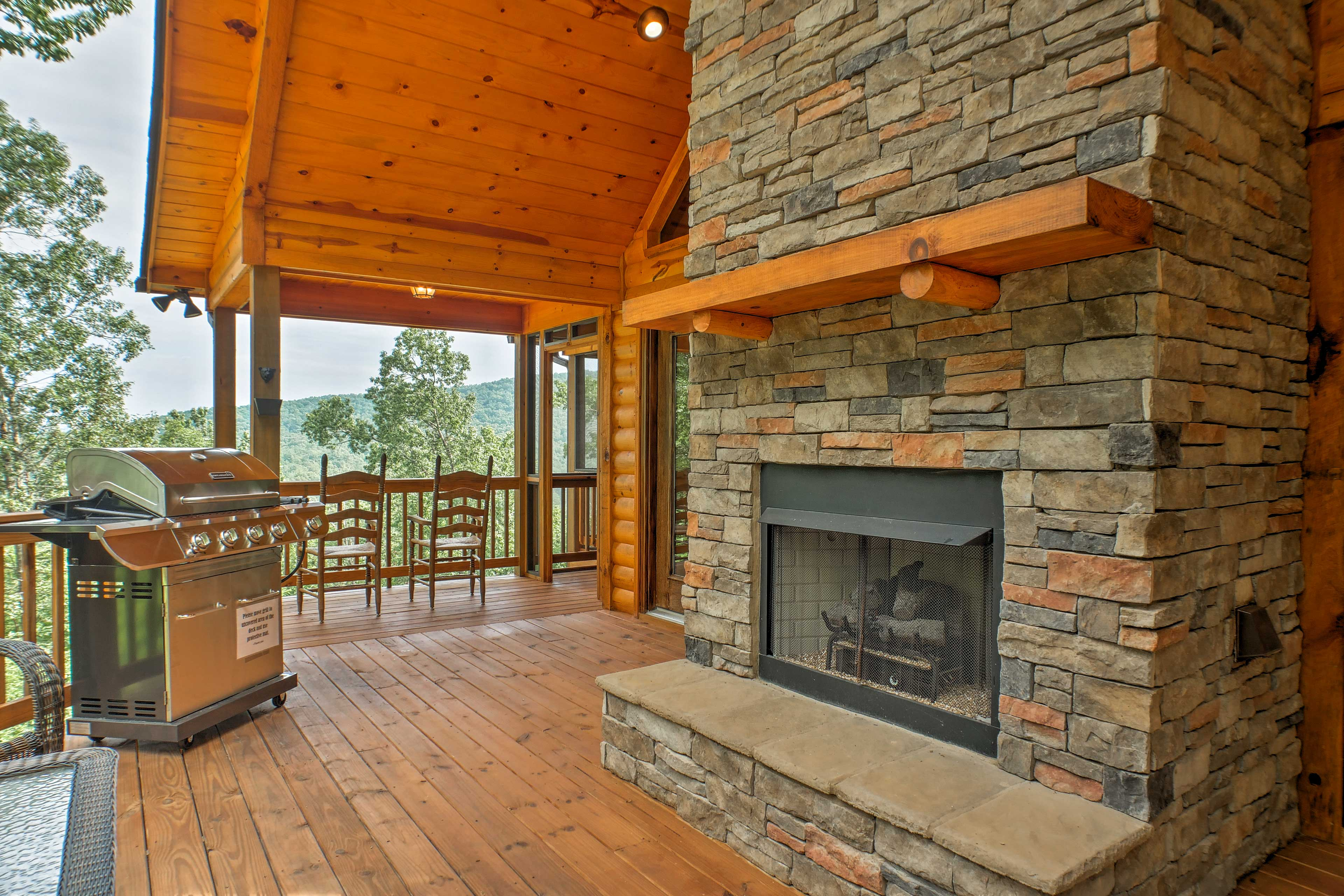 You'll love utilizing the marvelous outdoor space with a fireplace and grill.