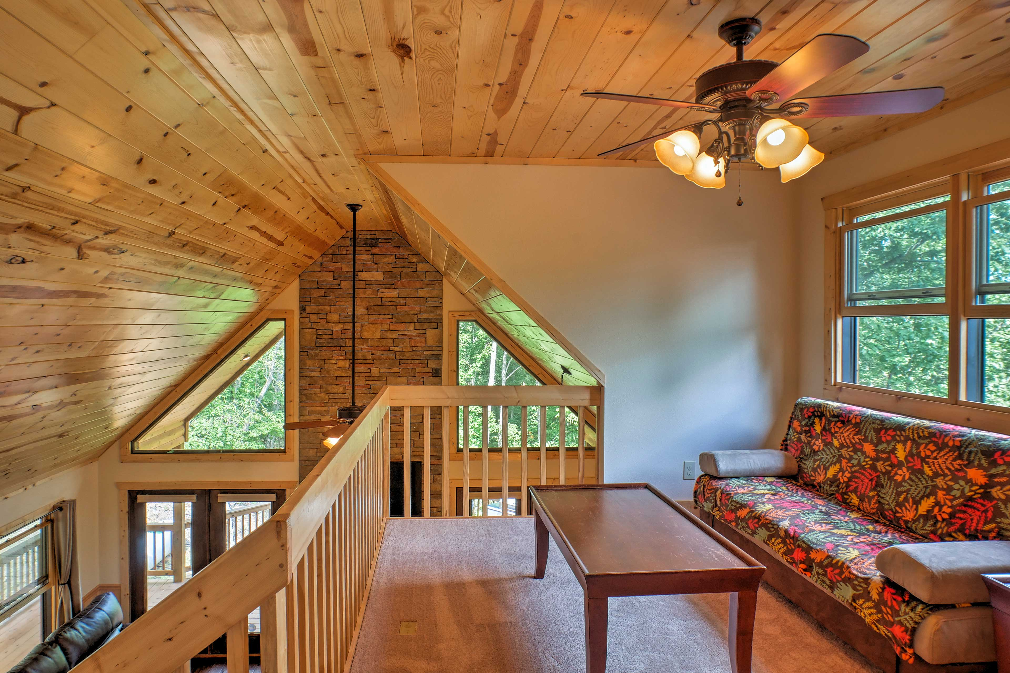 The loft offers a sleeper sofa to accommodate 1 adult or 2 children.
