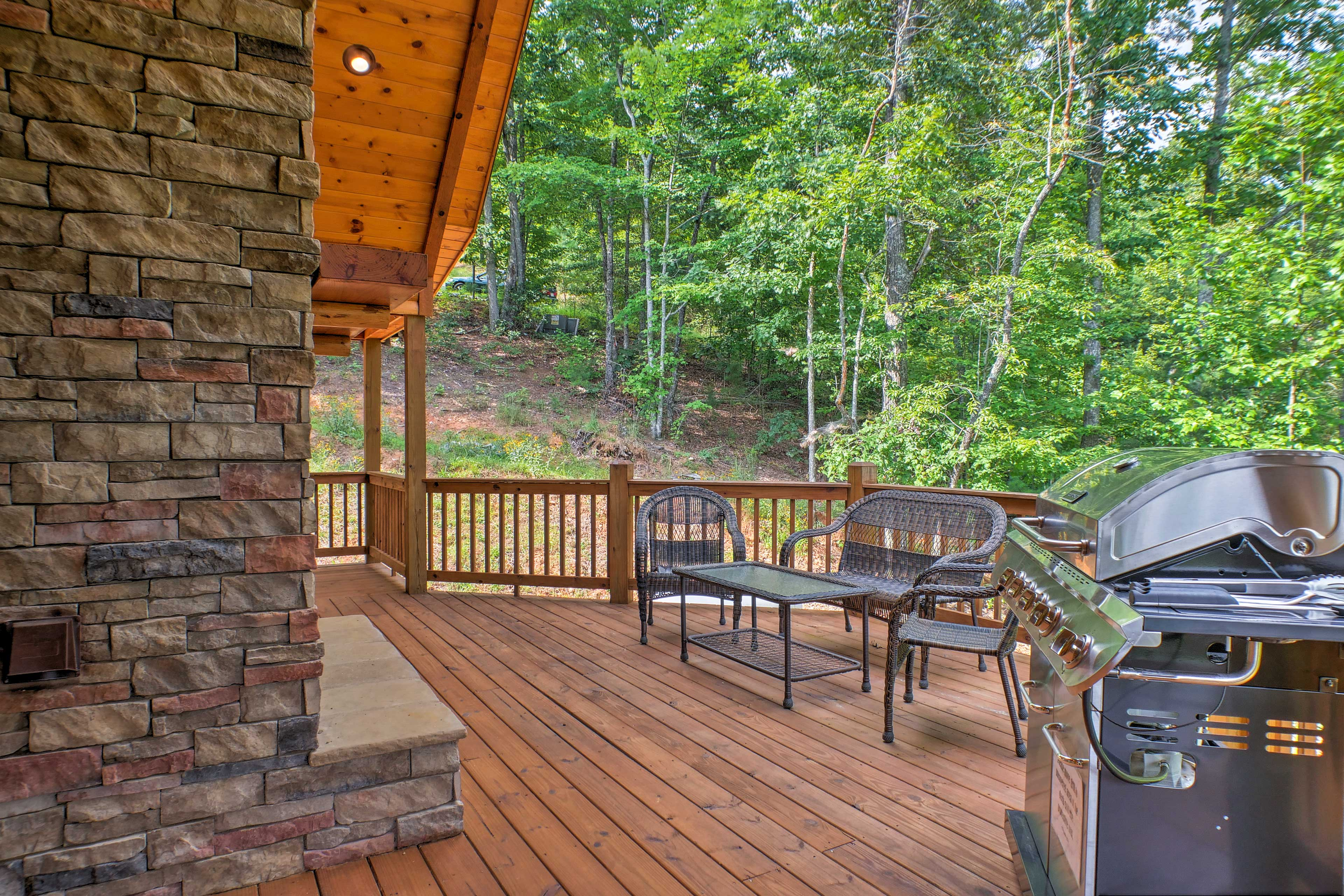 Lounge outside while embracing the fresh mountain air!