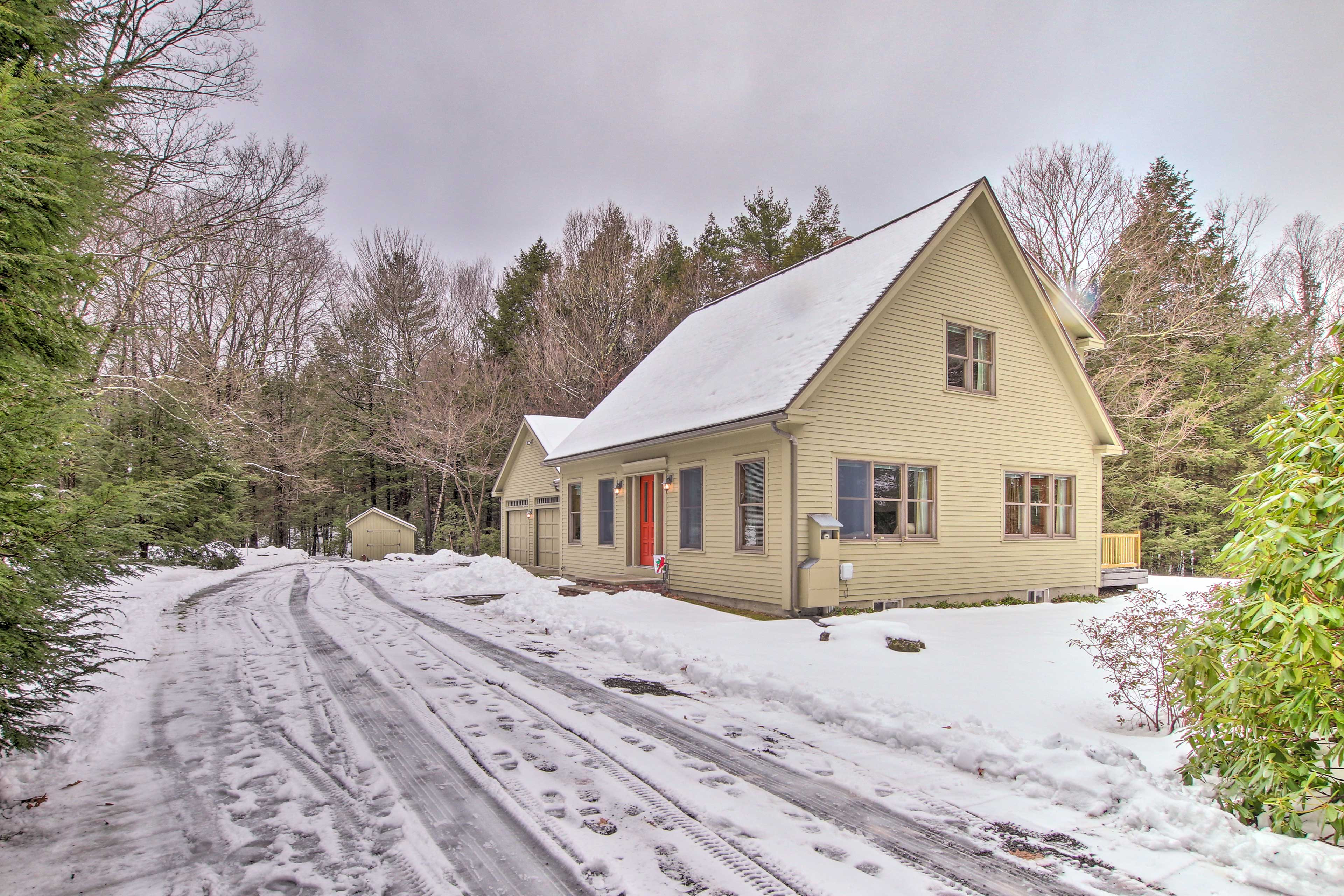 The home is located on nearly 8 acres - ensuring peace and quiet!