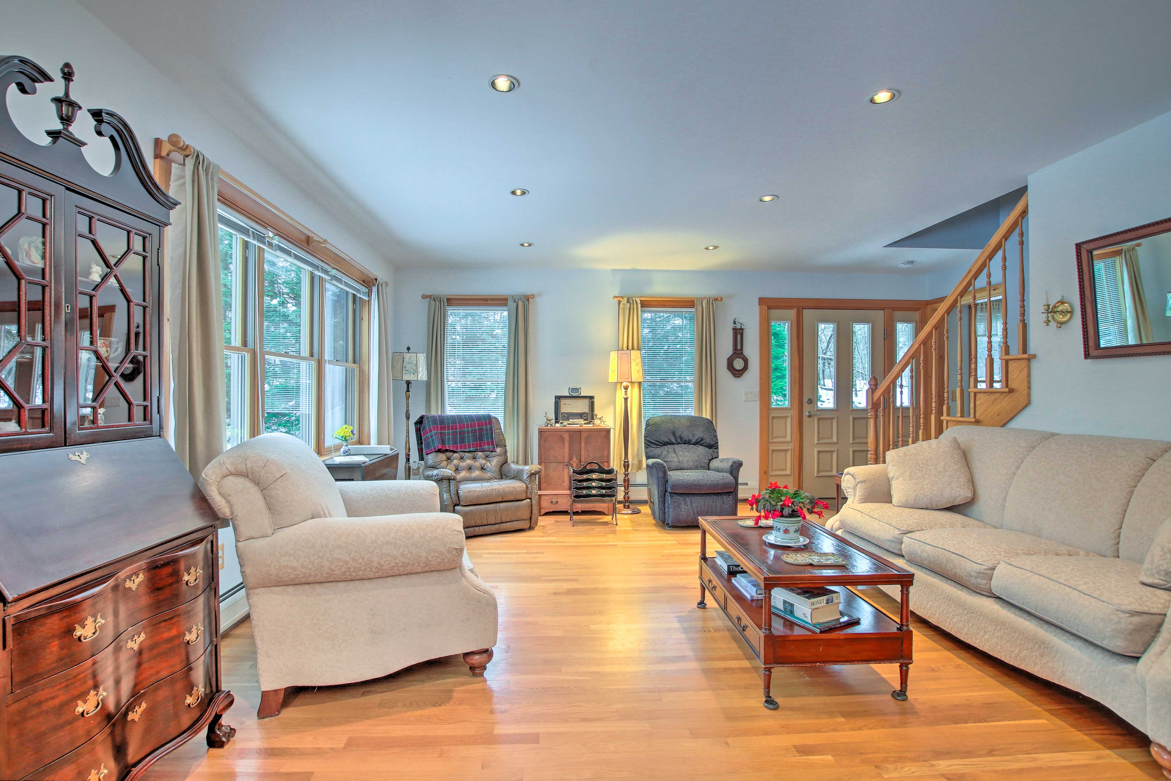 Inside, discover 2,000 square feet of living space.