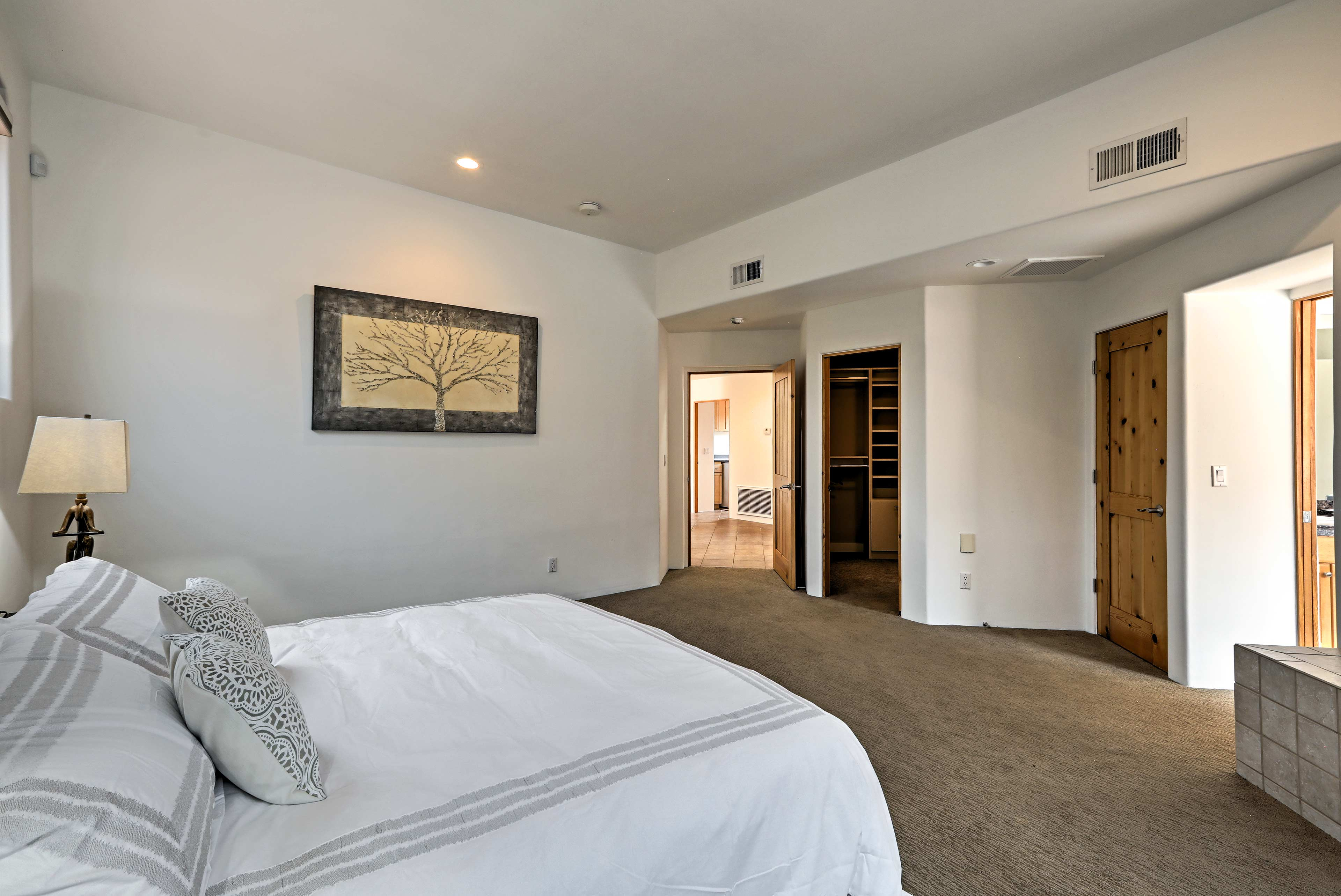 The master bedroom also boasts a large walk-in closet.