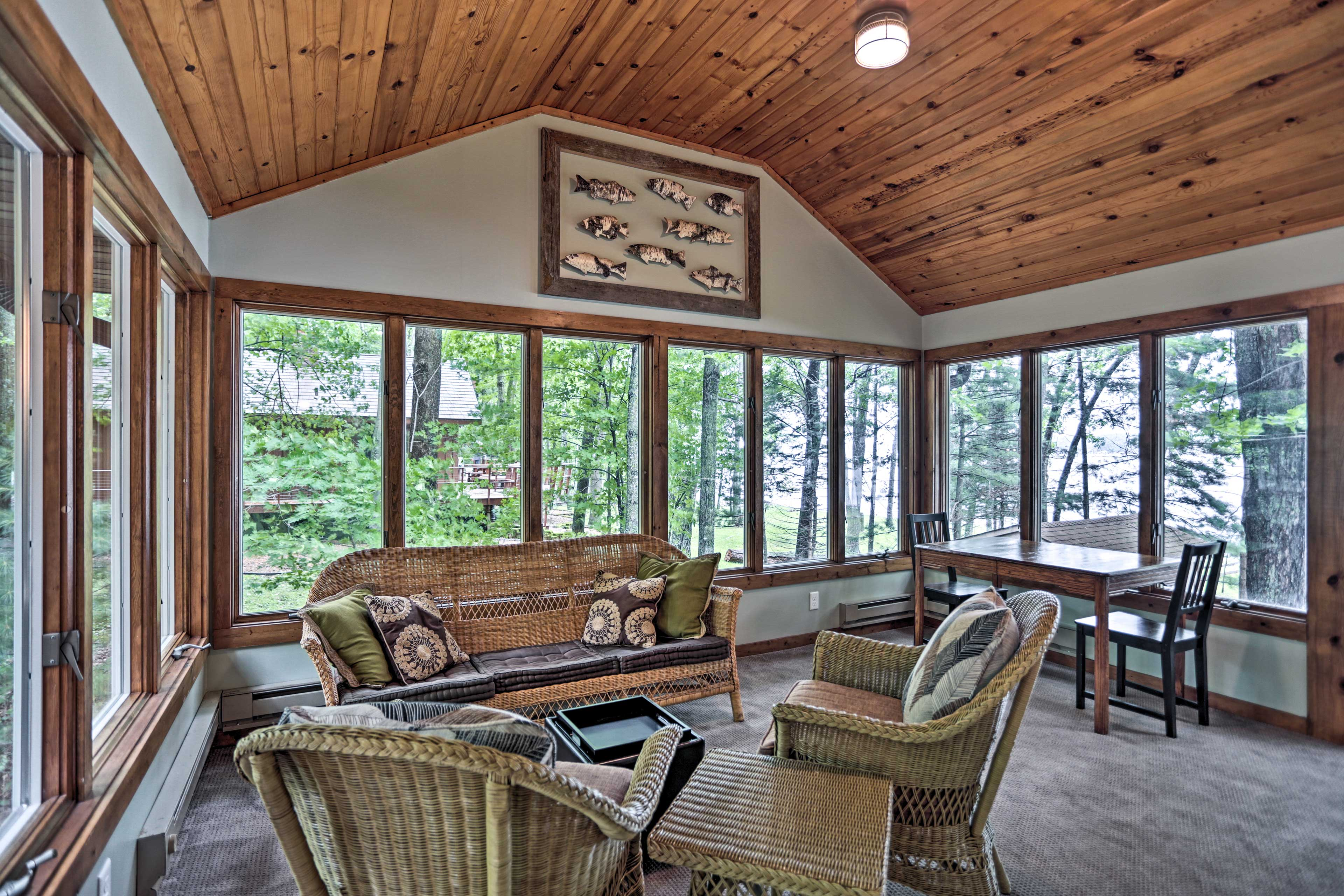 The newly renovated 3-bed, 3-bath getaway has accommodations for 7 guests.