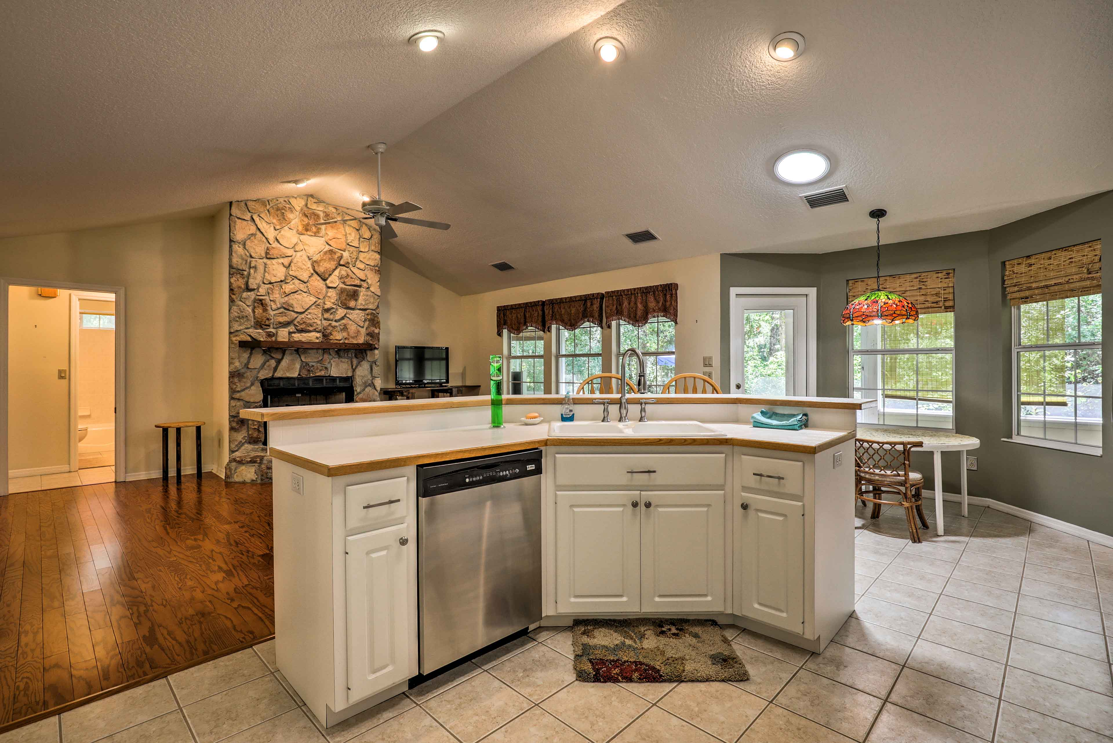 It's easy to chat with the chef while they cook with the open, spacious kitchen.