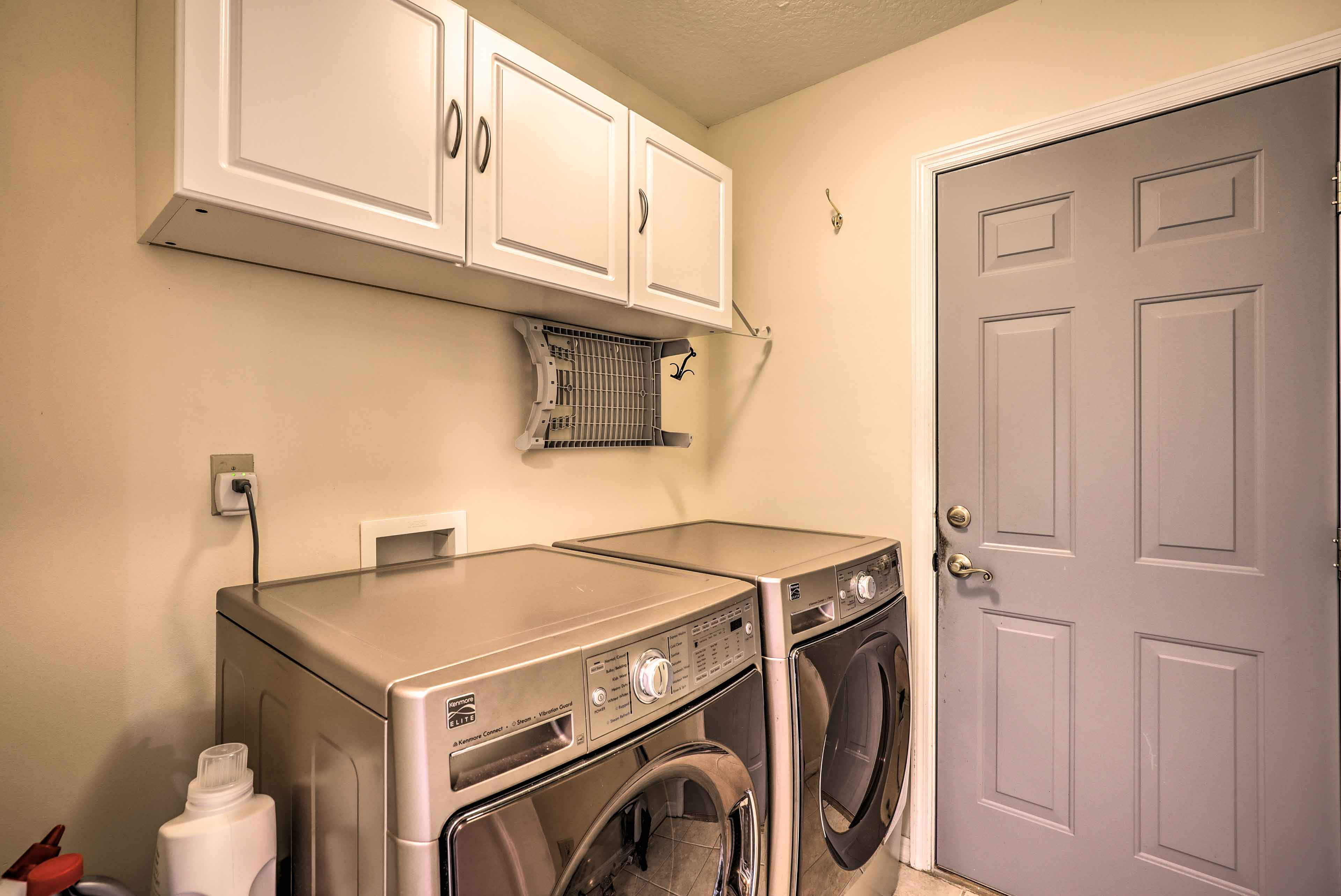 You'll love having an in-unit laundry room during your stay.