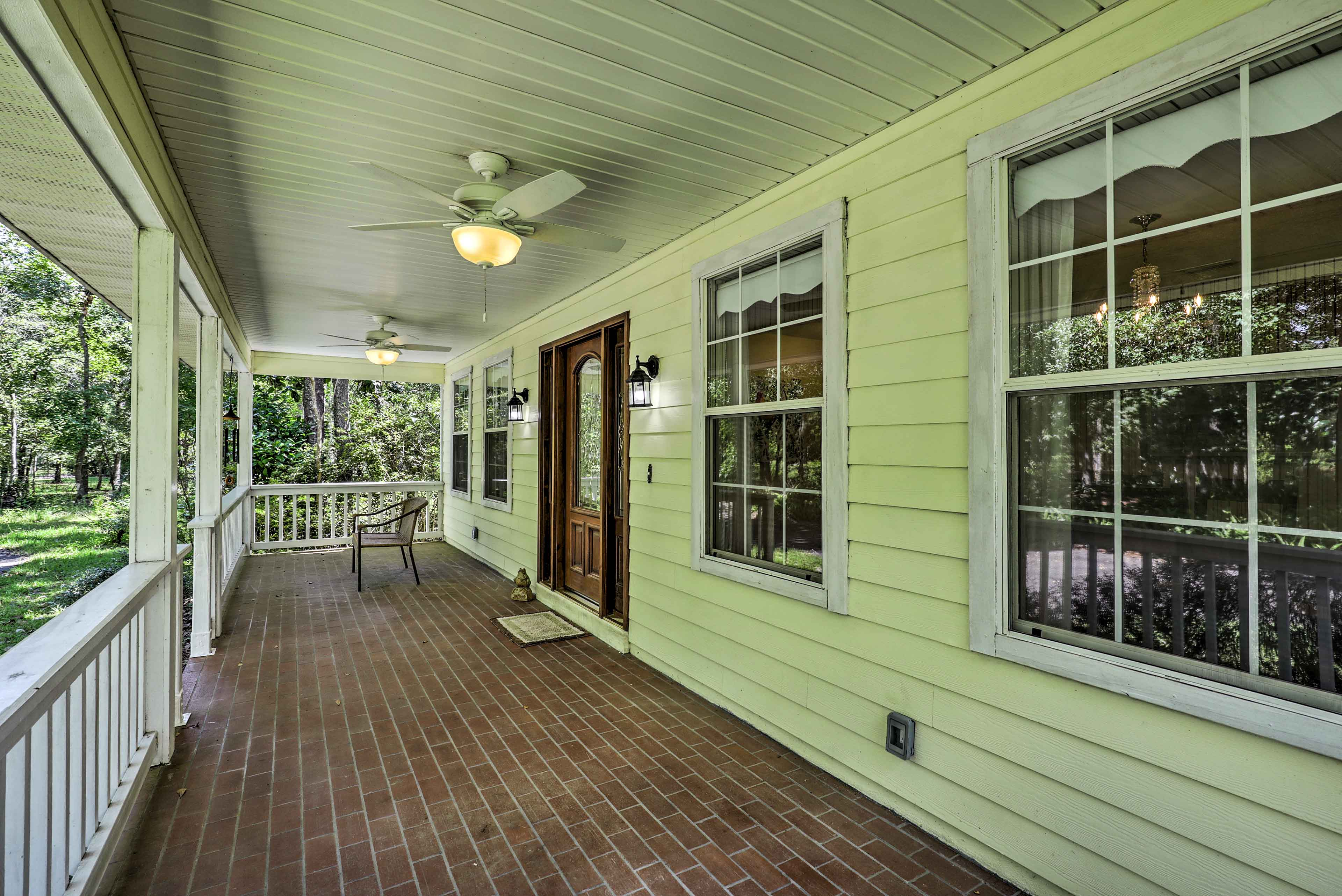 Pour a tall cup of sweet iced tea and relax on the front porch. Lemon is a must.