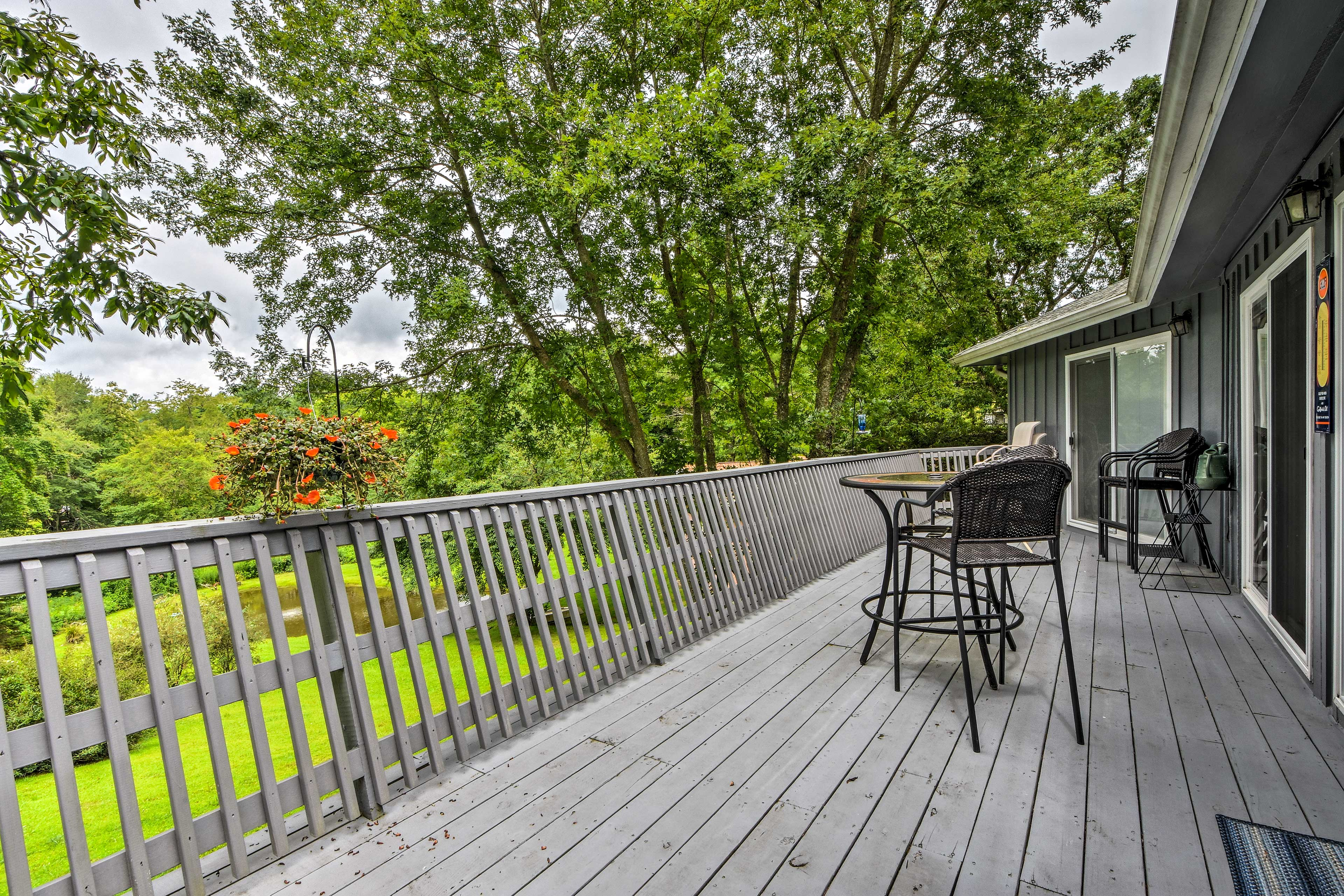 Sip your morning coffee from the deck.