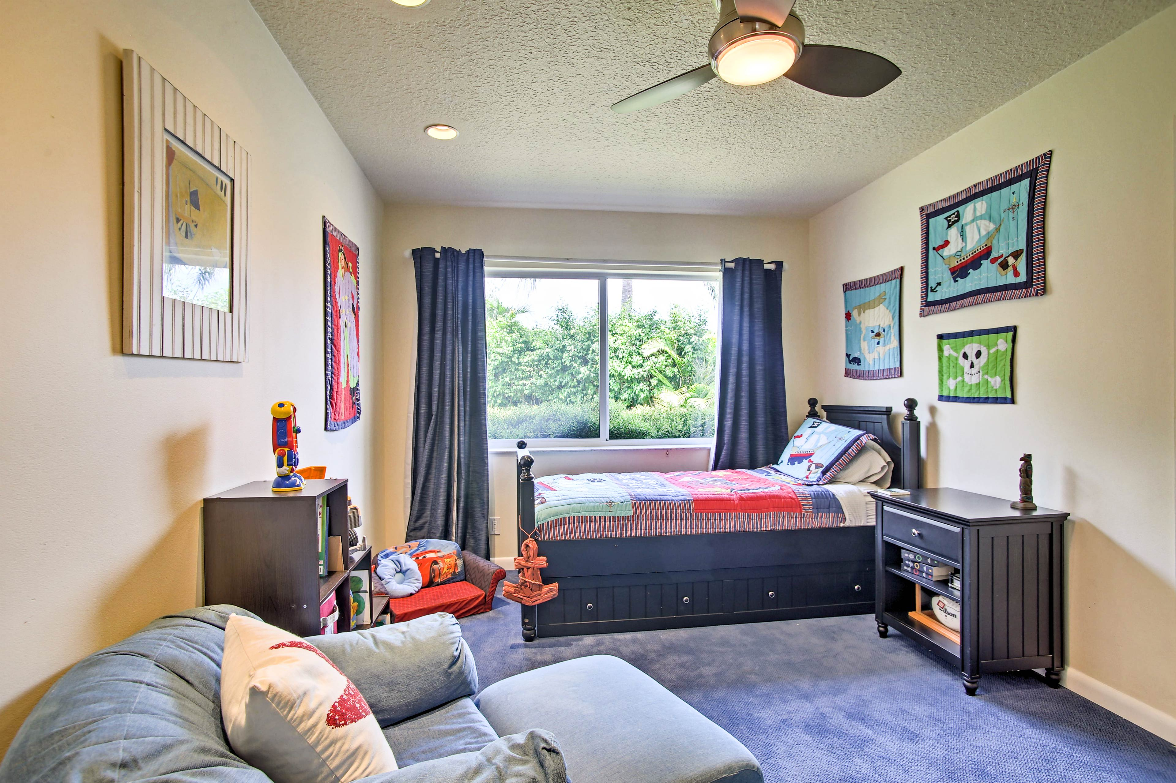 The second bedroom features a twin with twin trundle bed - perfect for kiddos!