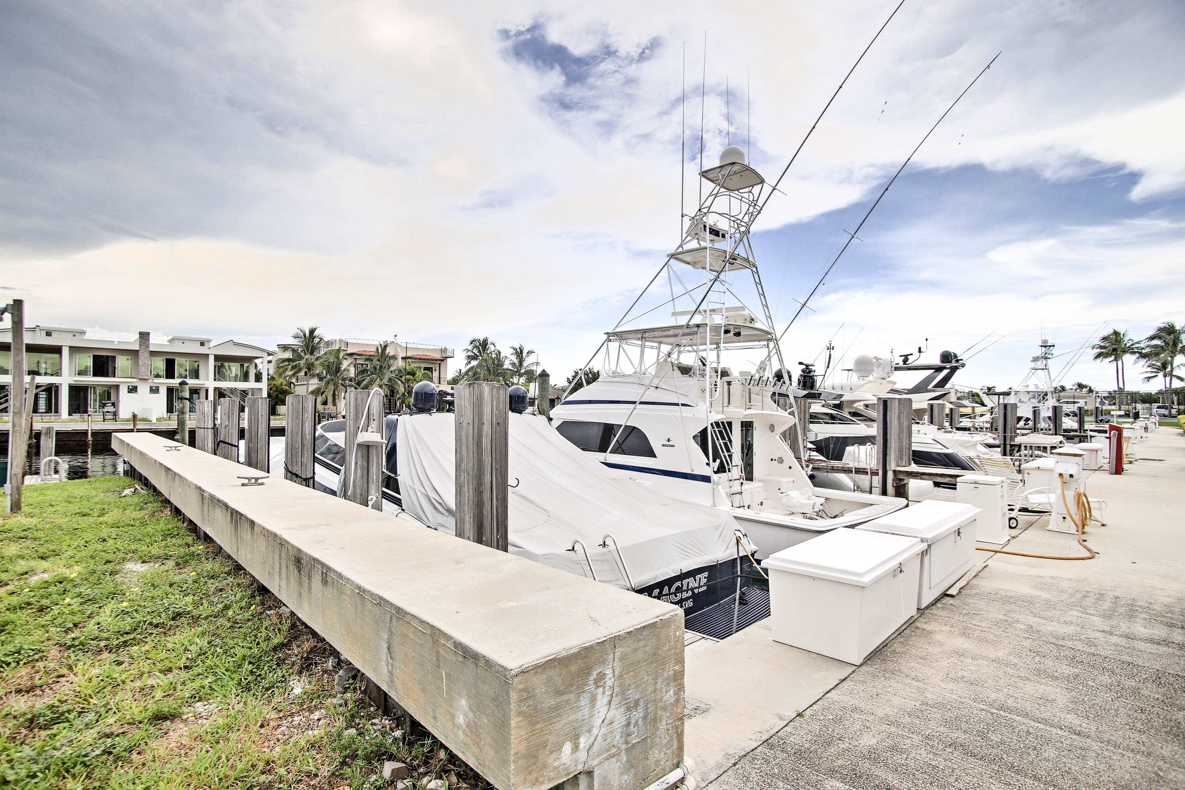 The home features a prime location just minutes from the marina.