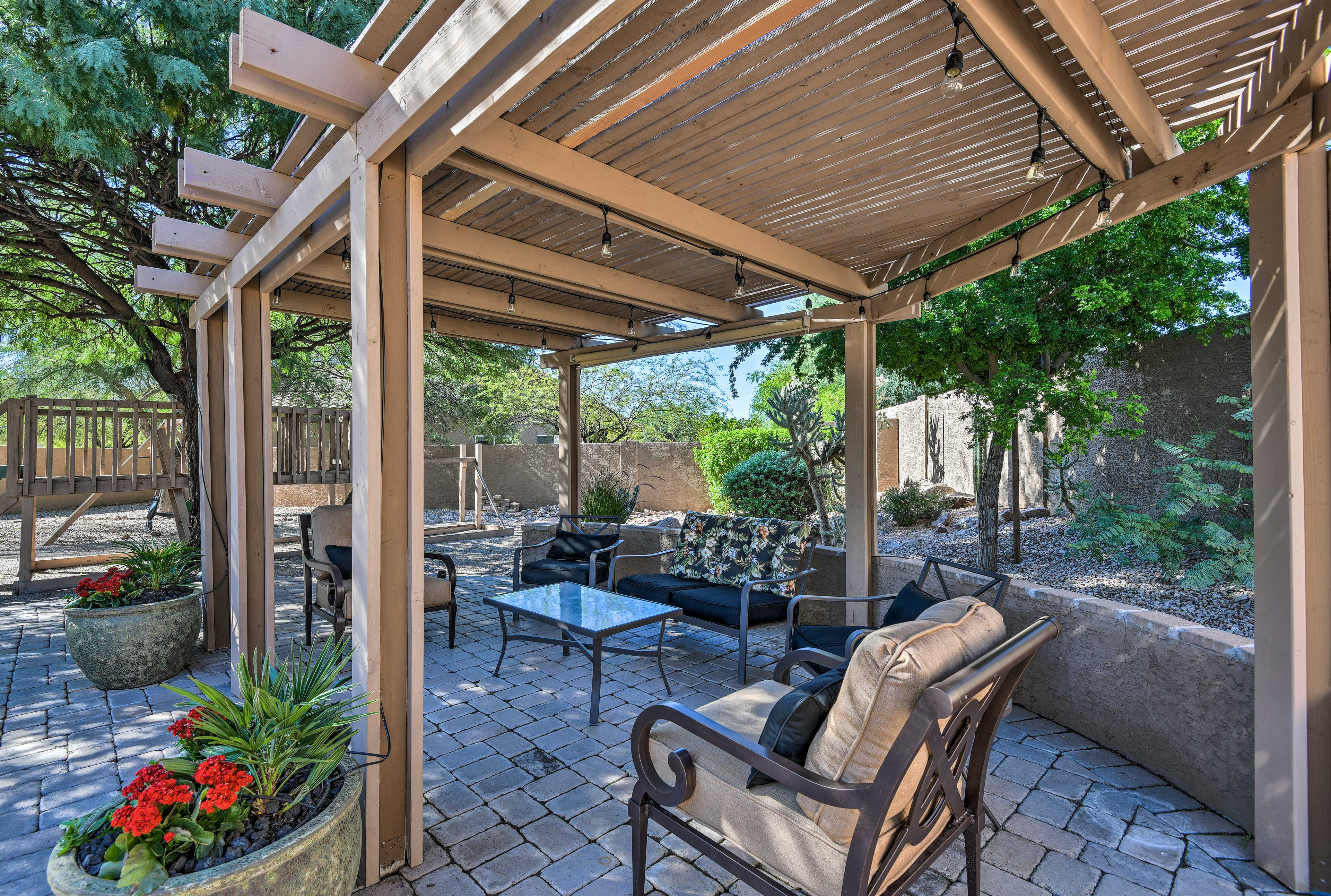 The only thing better than this backyard is the home's prime location.