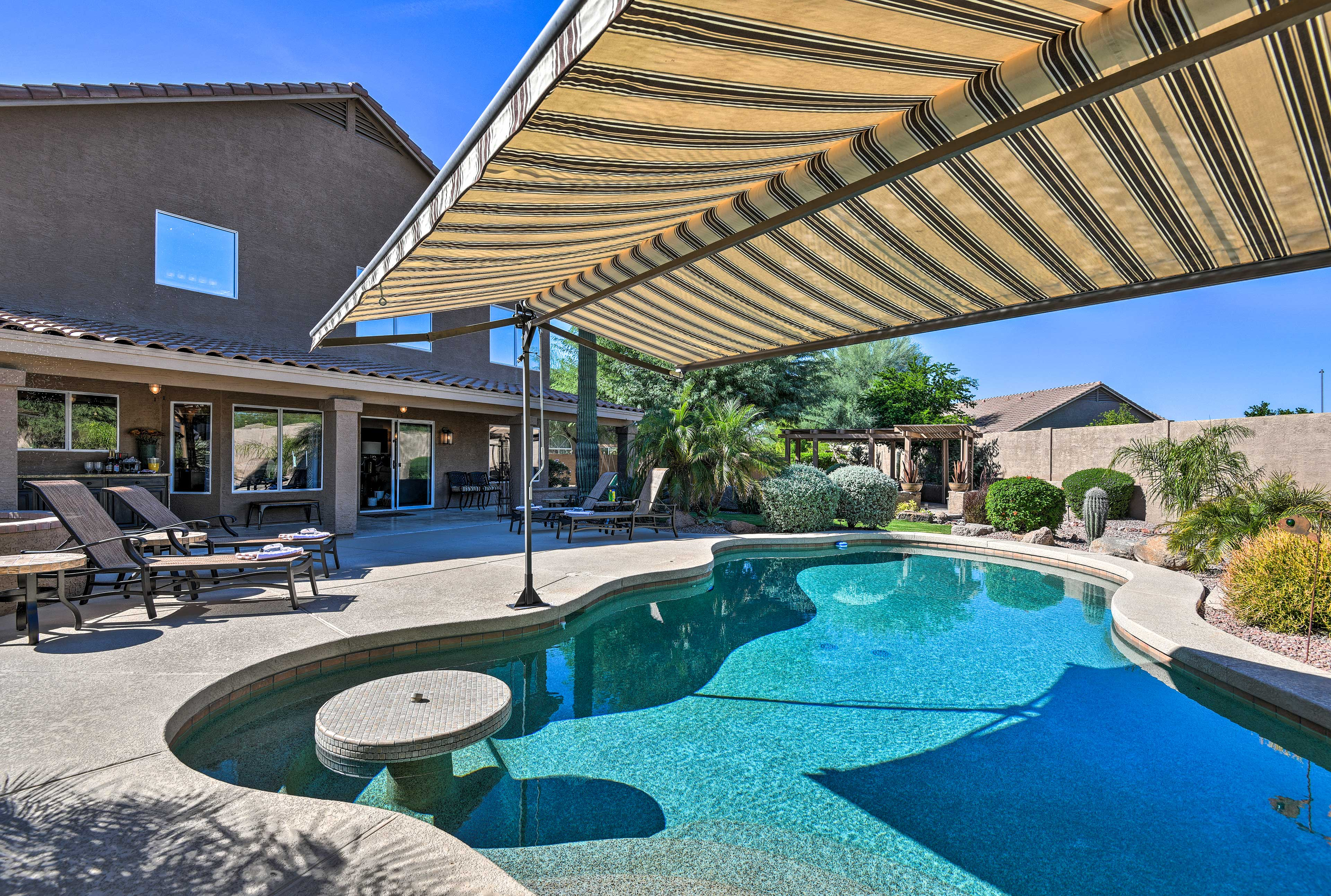 This 4-bedroom, 3-bathroom abode can accommodate up to 14 travelers!