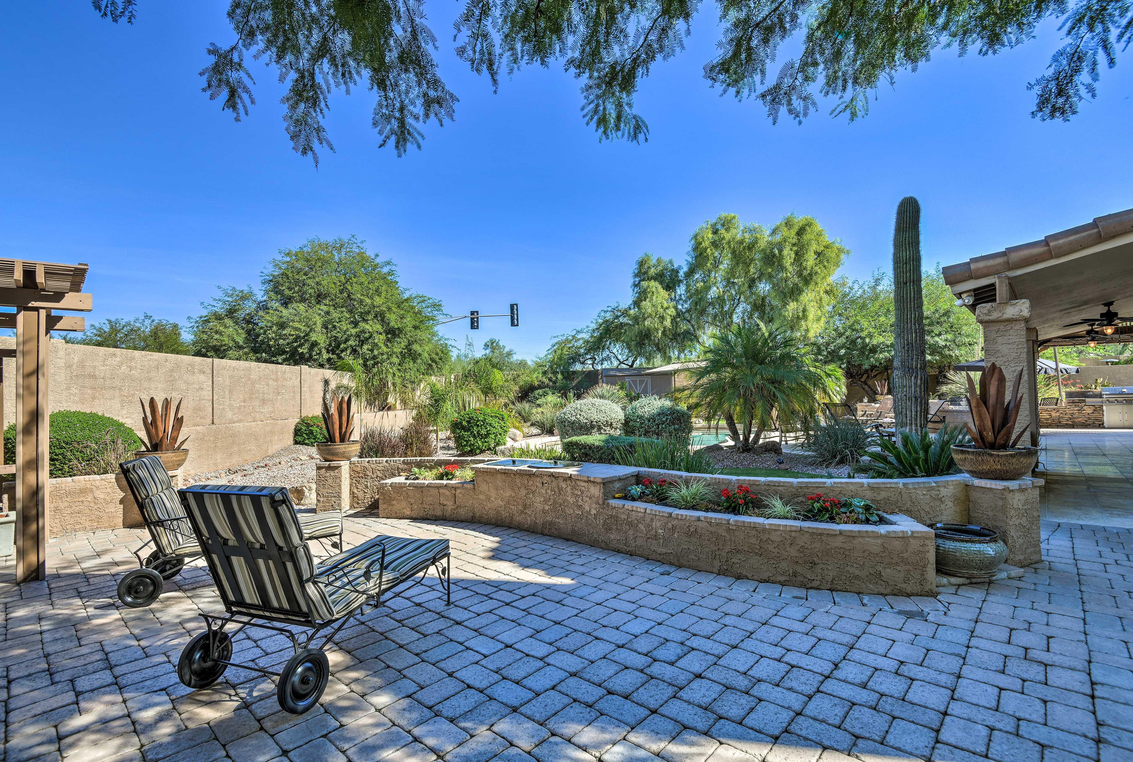 The desert landscaping gives you a true sense of being on an Arizona adventure!