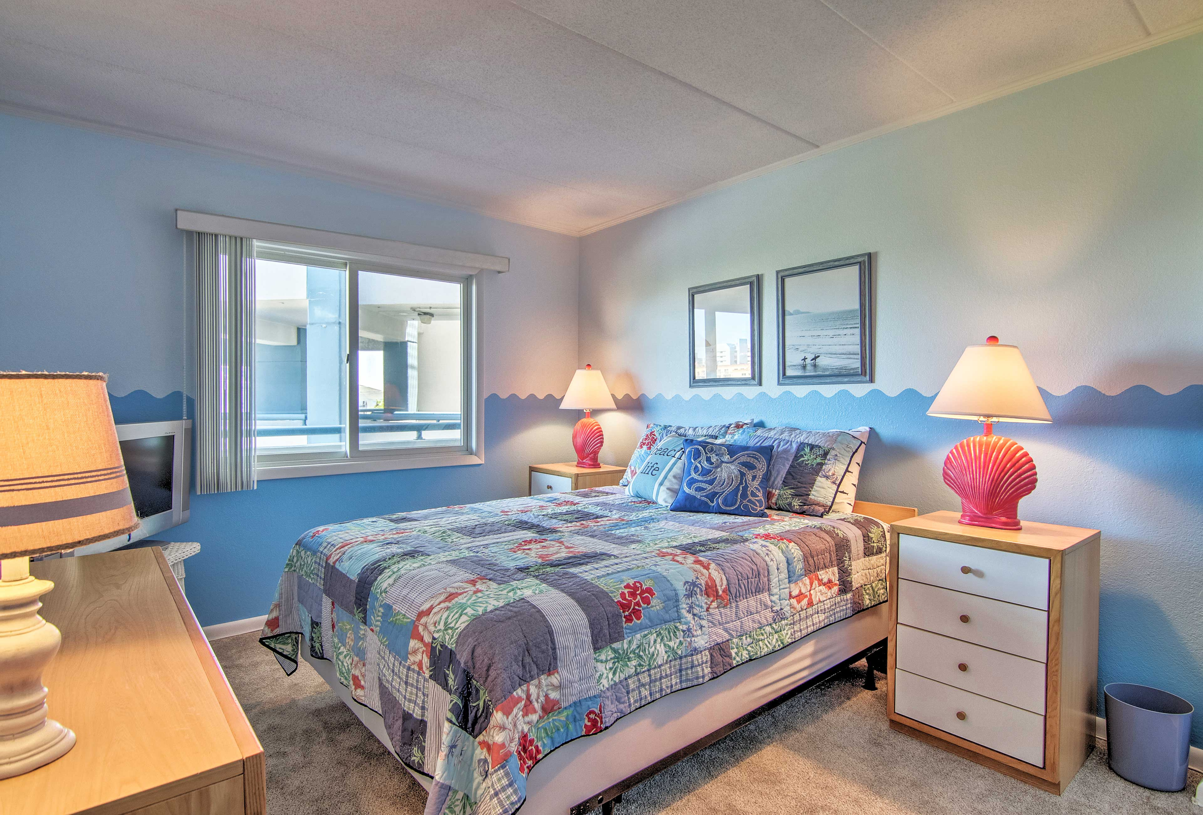 Two guests can claim the full bed in the third bedroom.