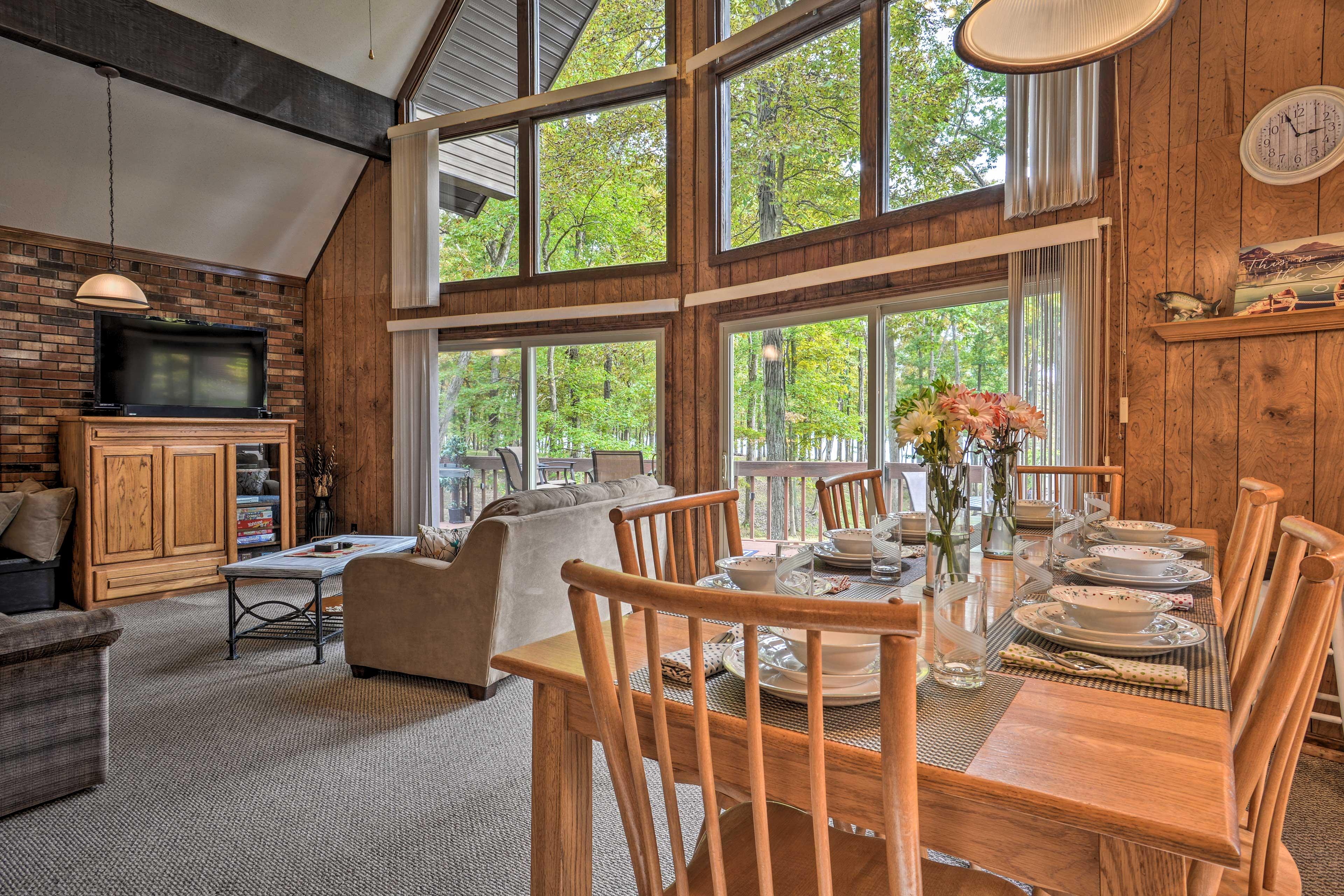 Natural light illuminates the entire home.