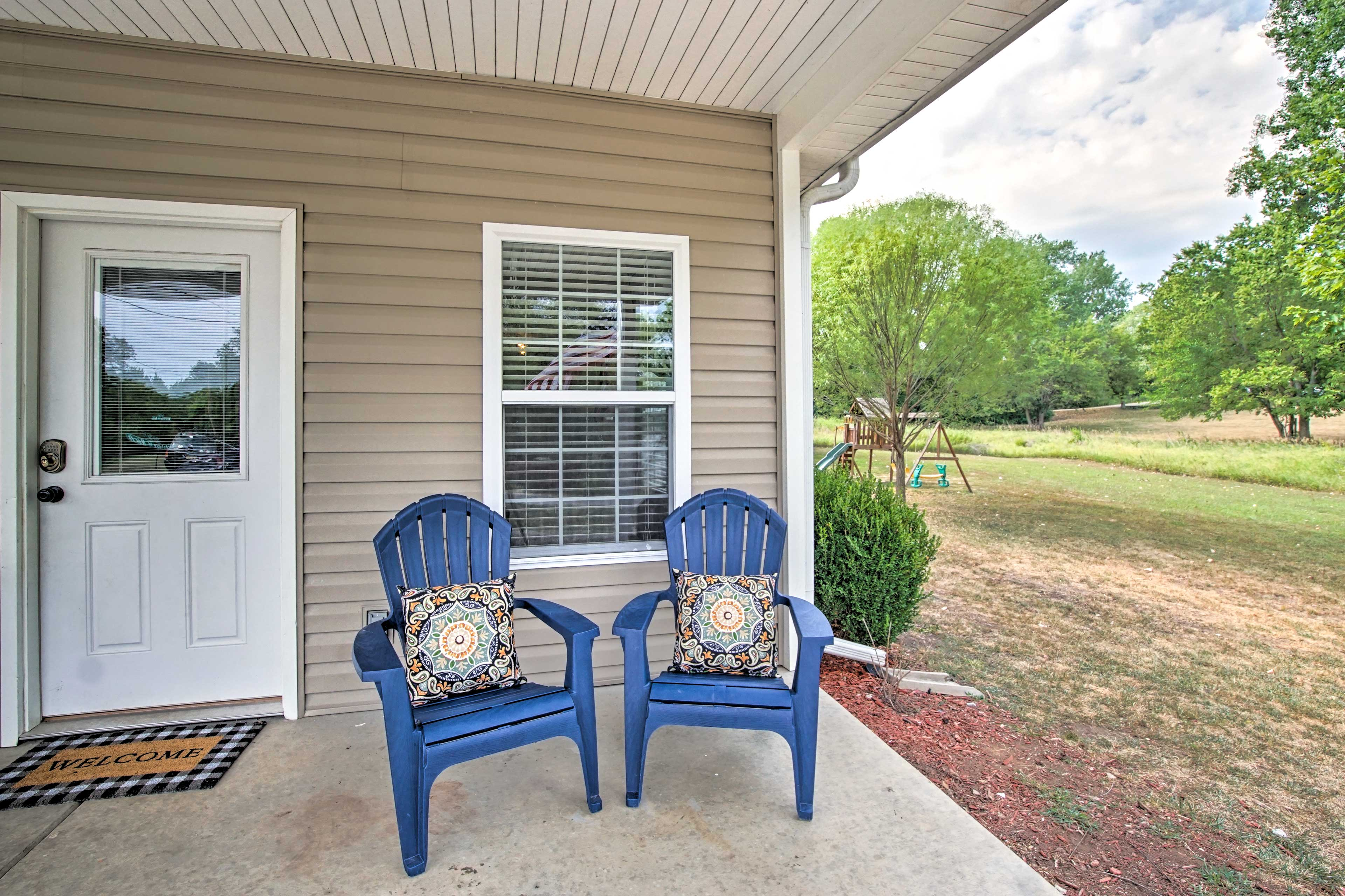 Sip your coffee from the covered porch.