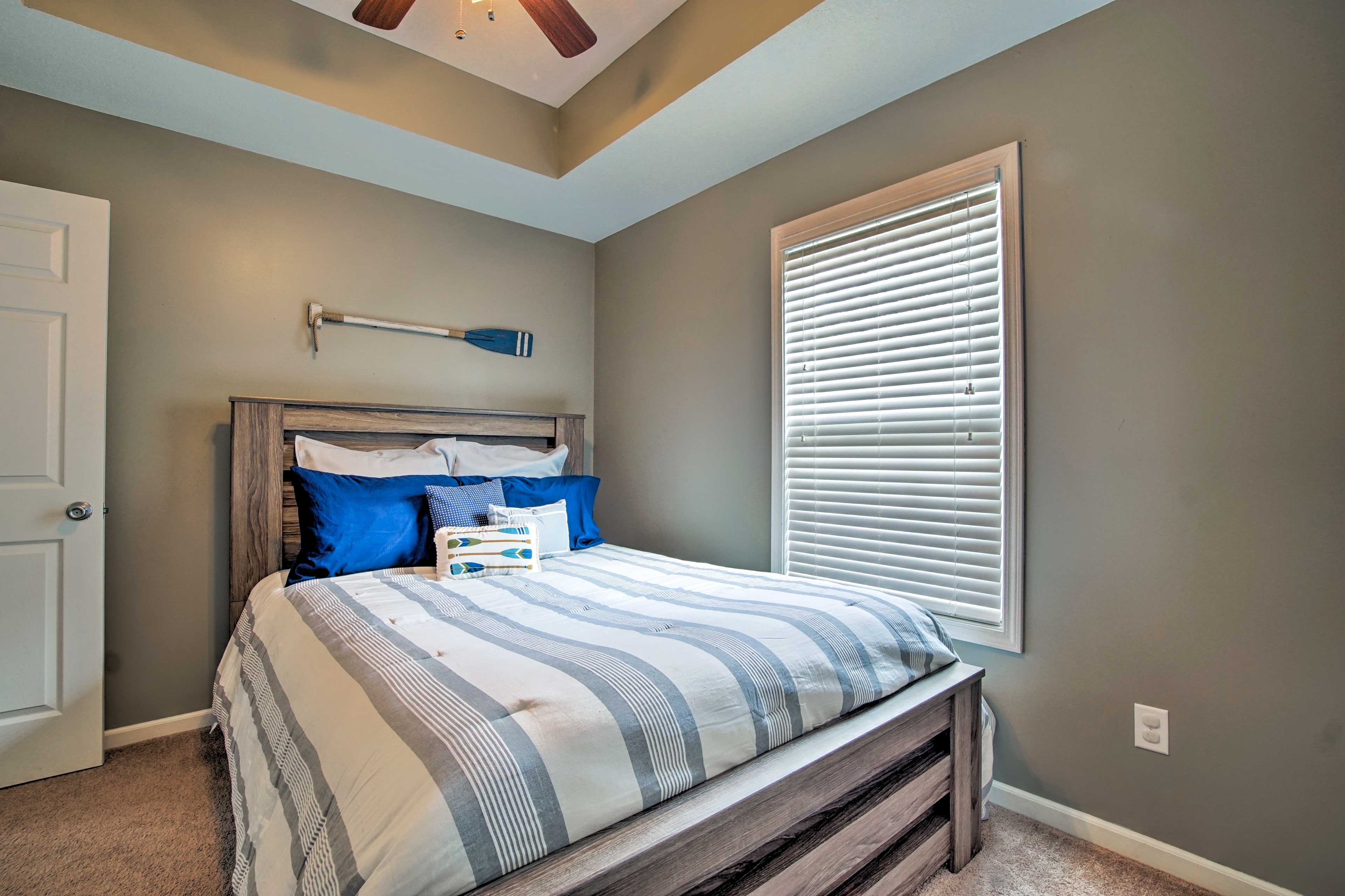 Retreat to one of 4 bedrooms for a peaceful slumber.