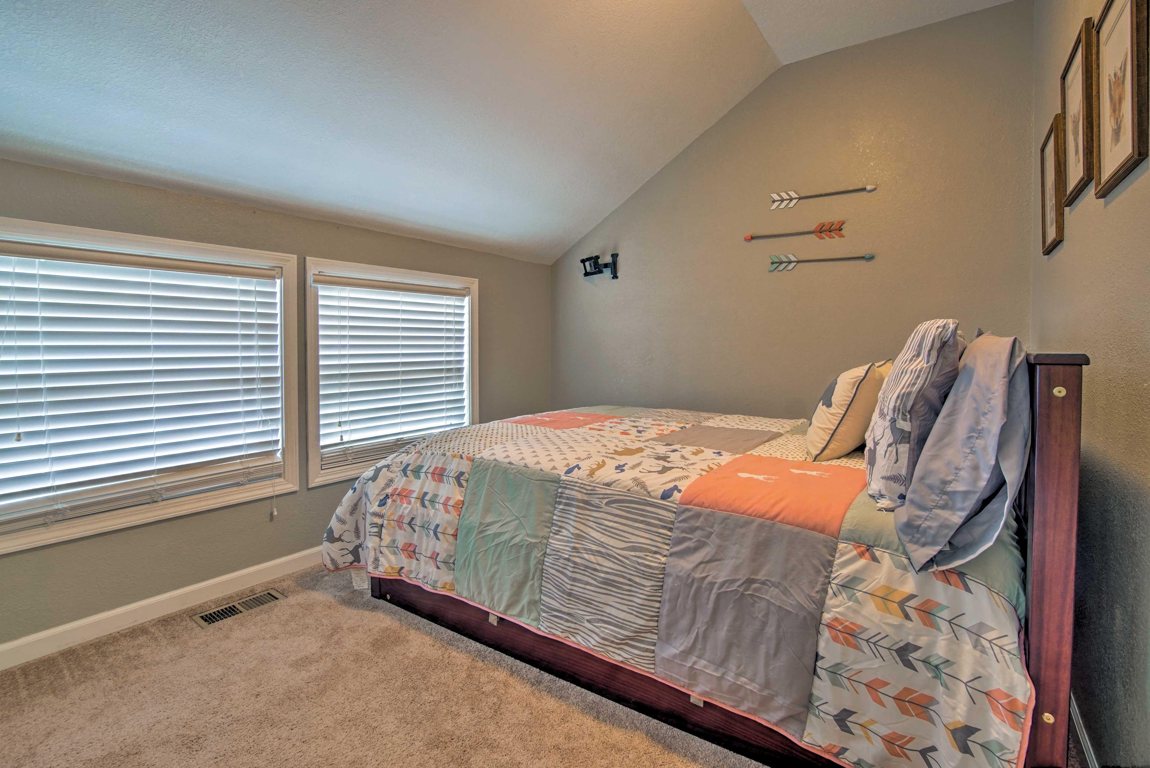 Dreams come easy in this cozy bed!