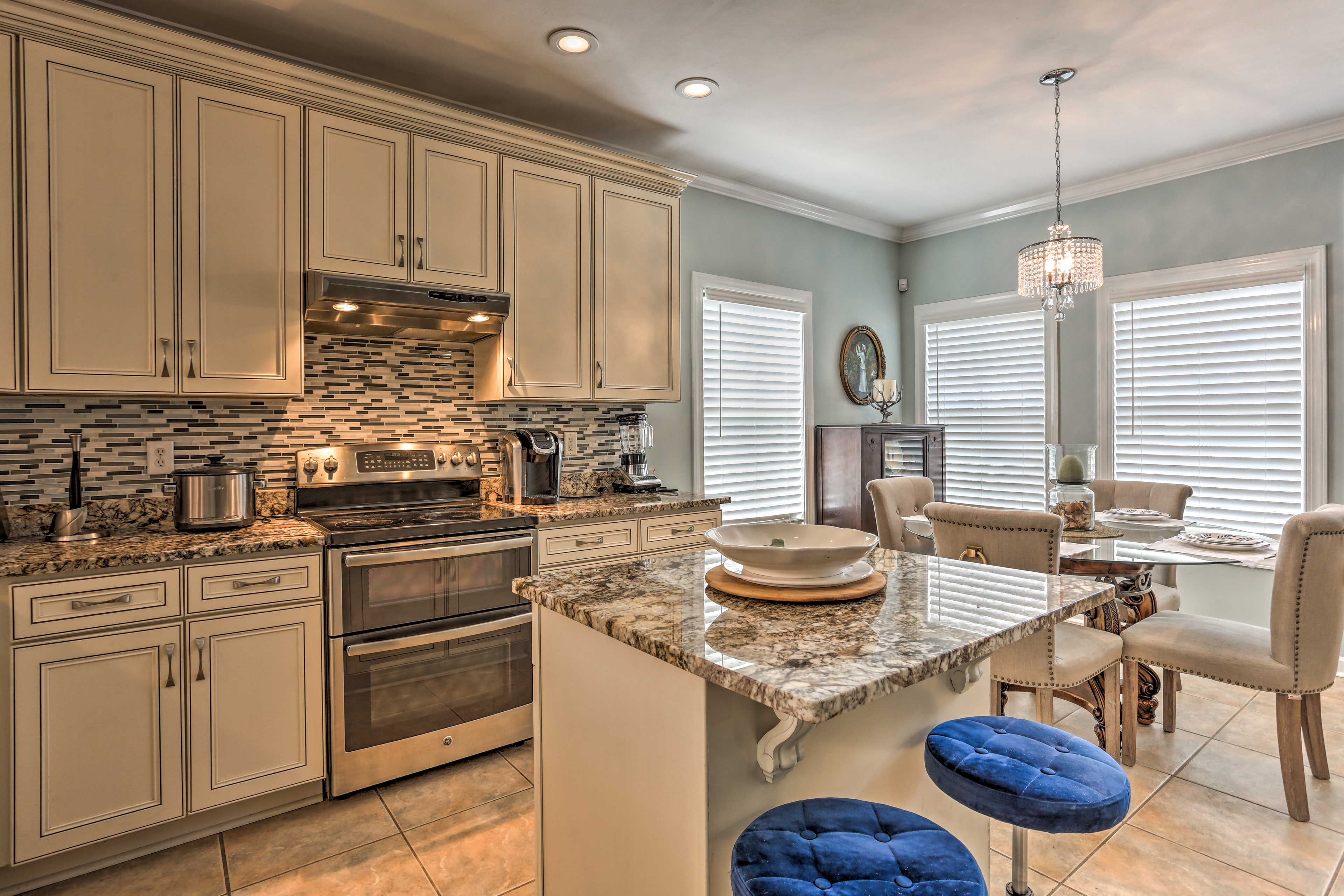 The fully equipped kitchen is both lavish and practical.