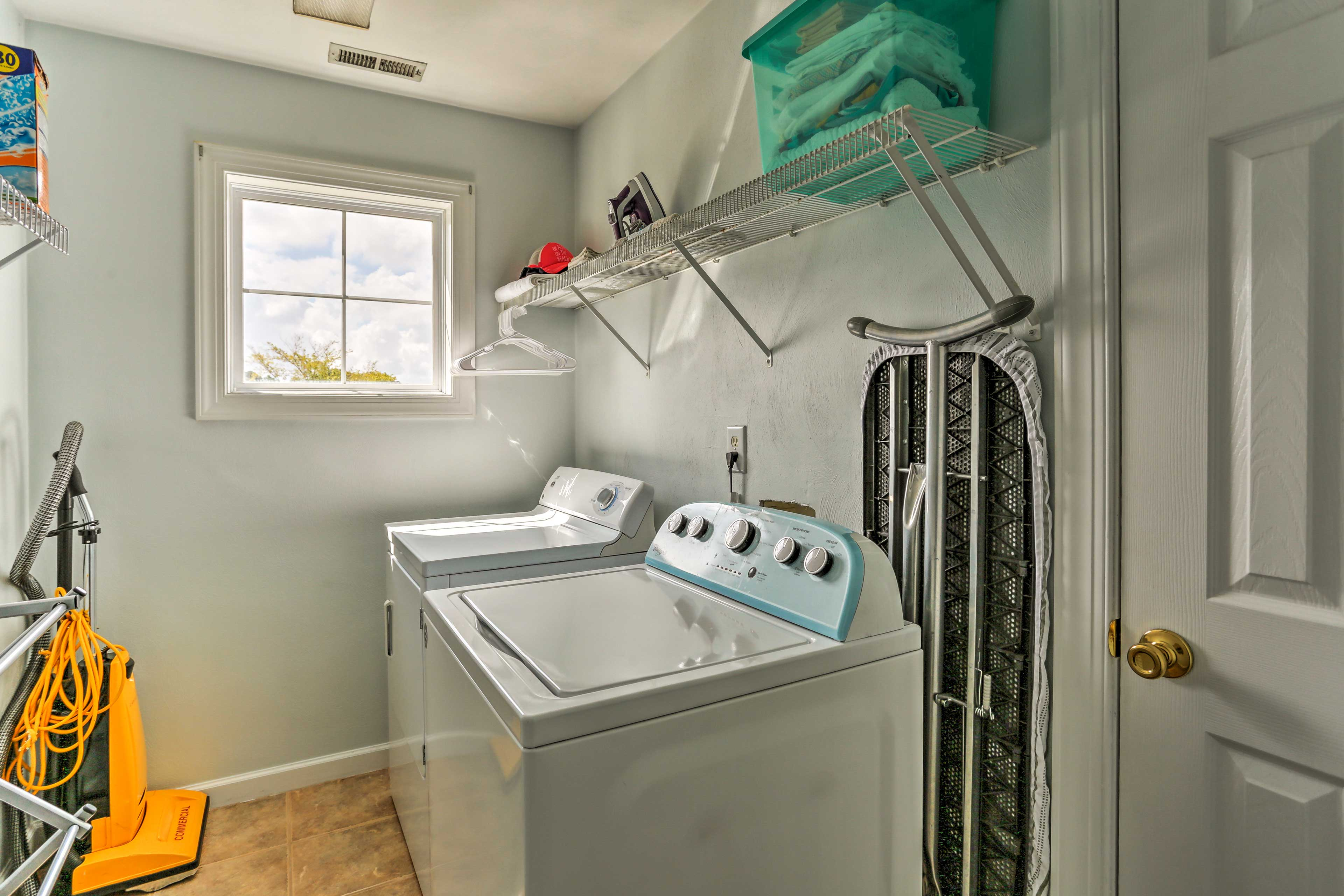 Pack light thanks to the convenient in-unit laundry machines.