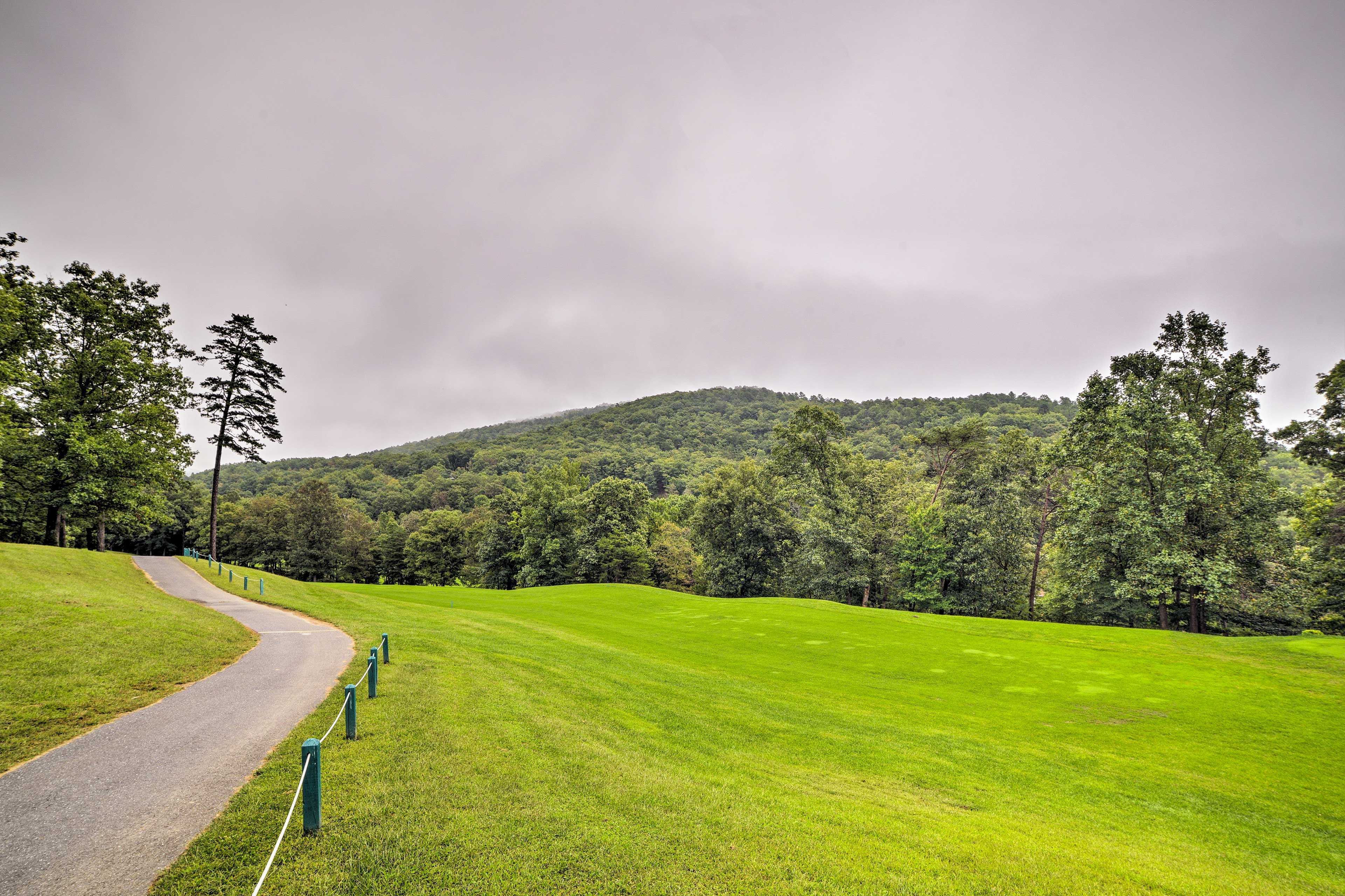 Enjoy the views along the drive to this mountainside property.