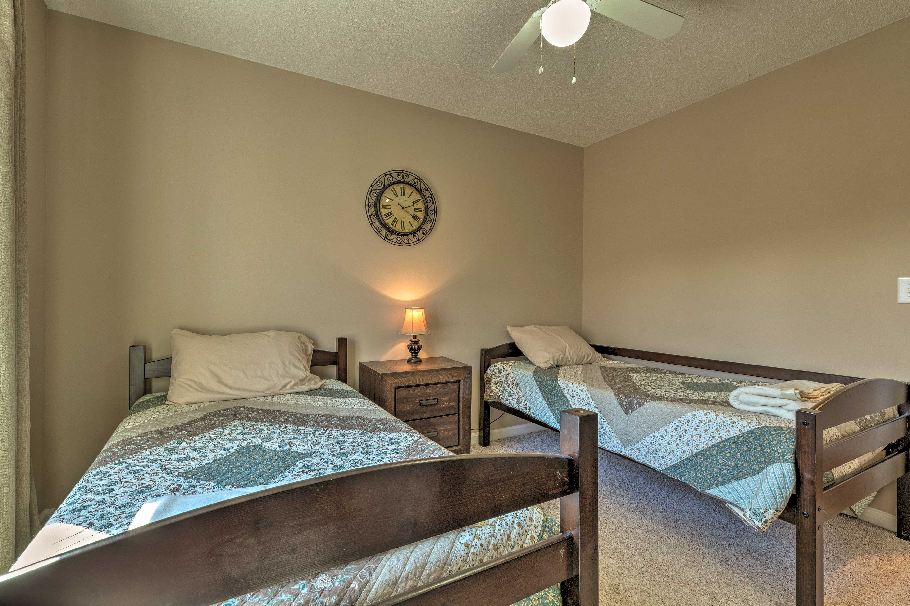 Kids can claim the twin beds!
