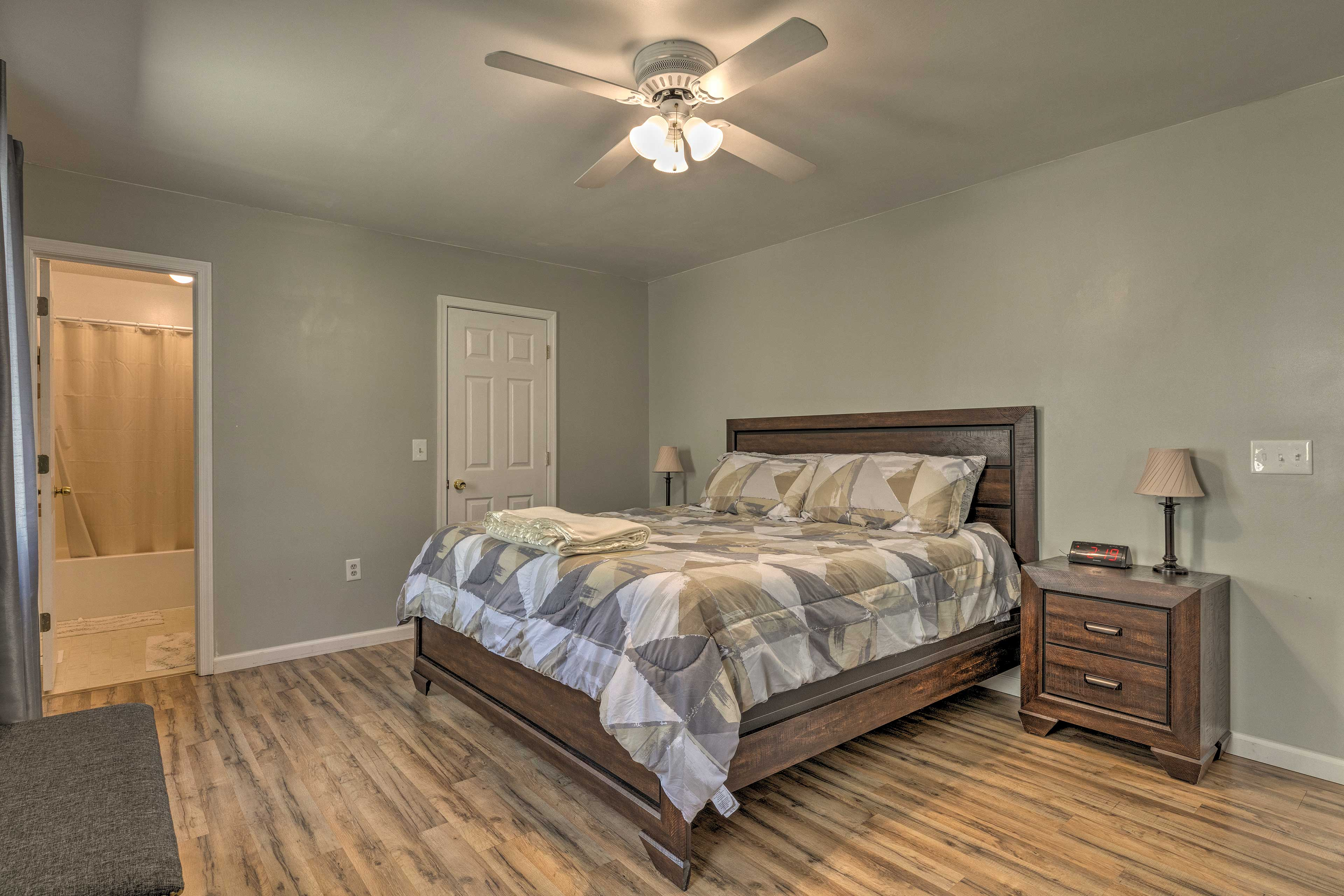 Settle in one of the 4 bedrooms.