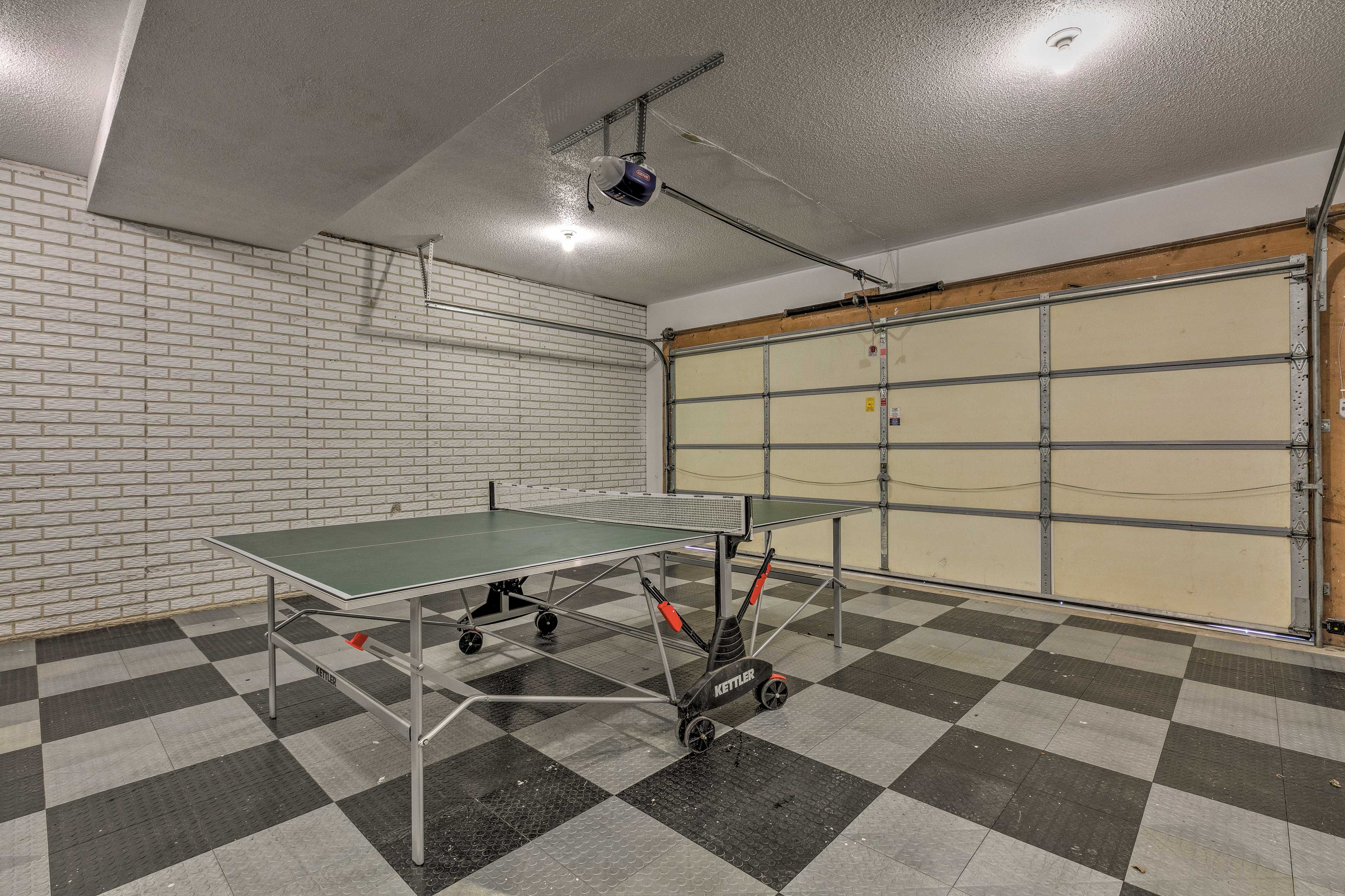 Challenge your travel companions to a game of ping pong!