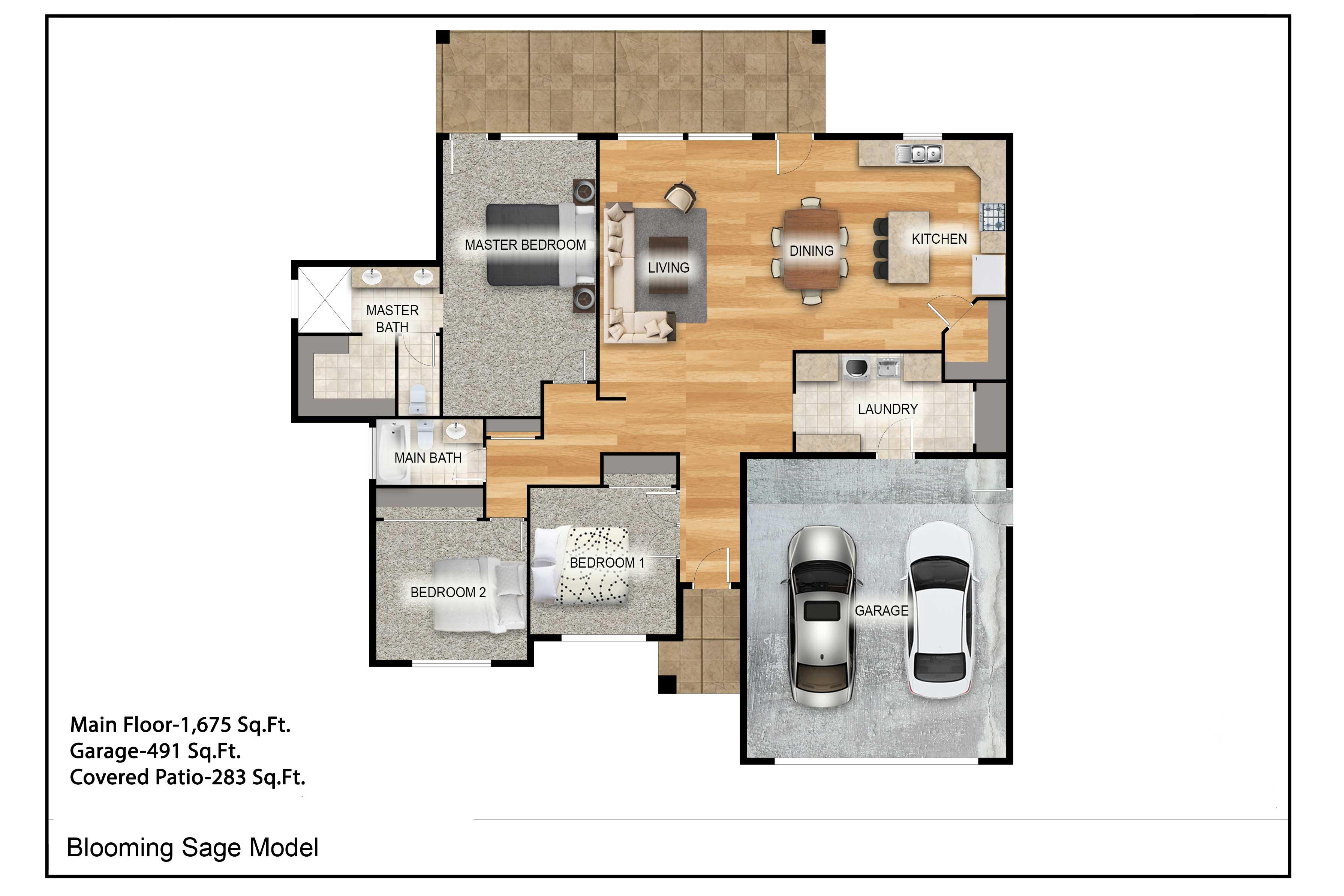 Property floor plan.