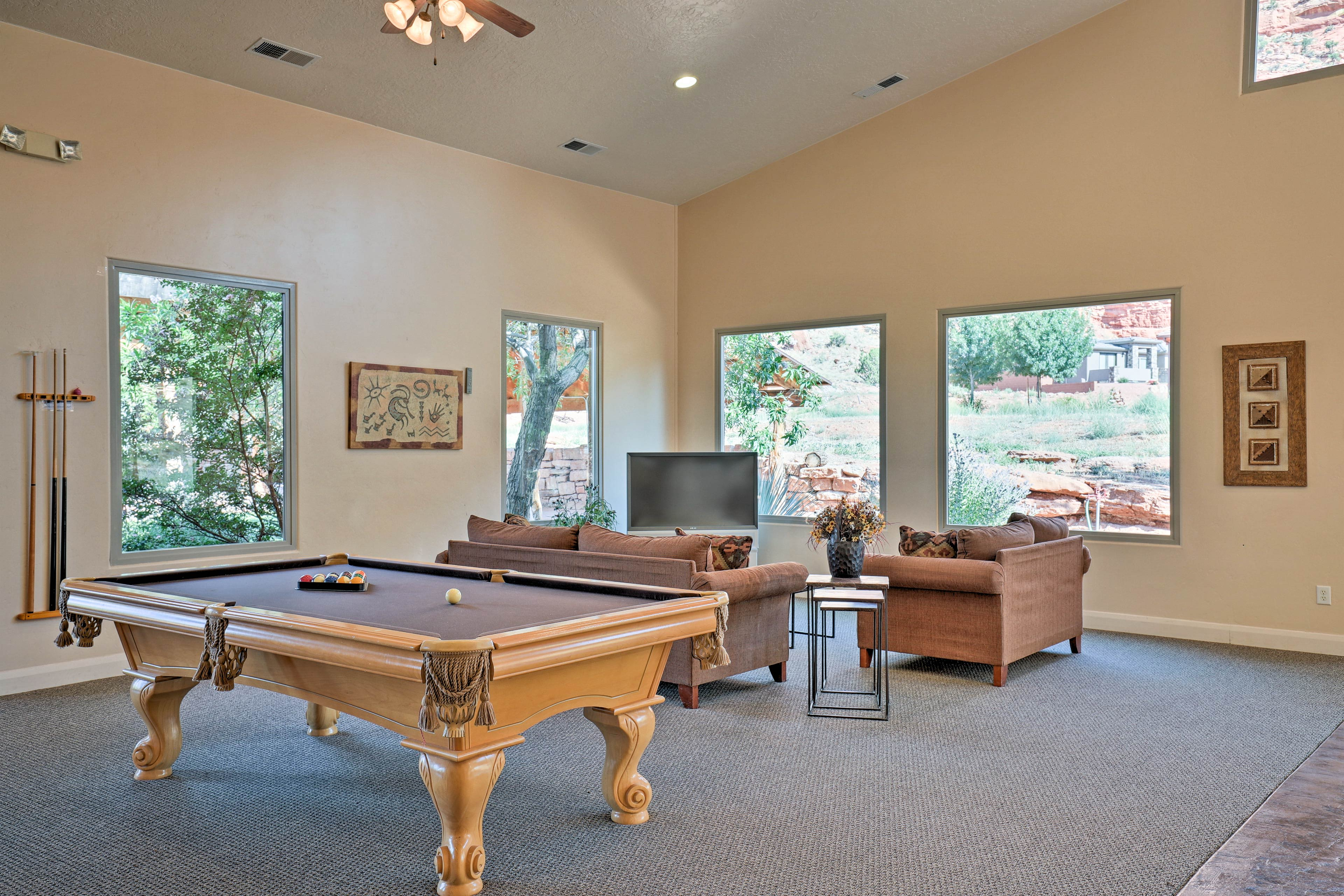 Challenge the kiddos to a friendly game of pool in the game room!