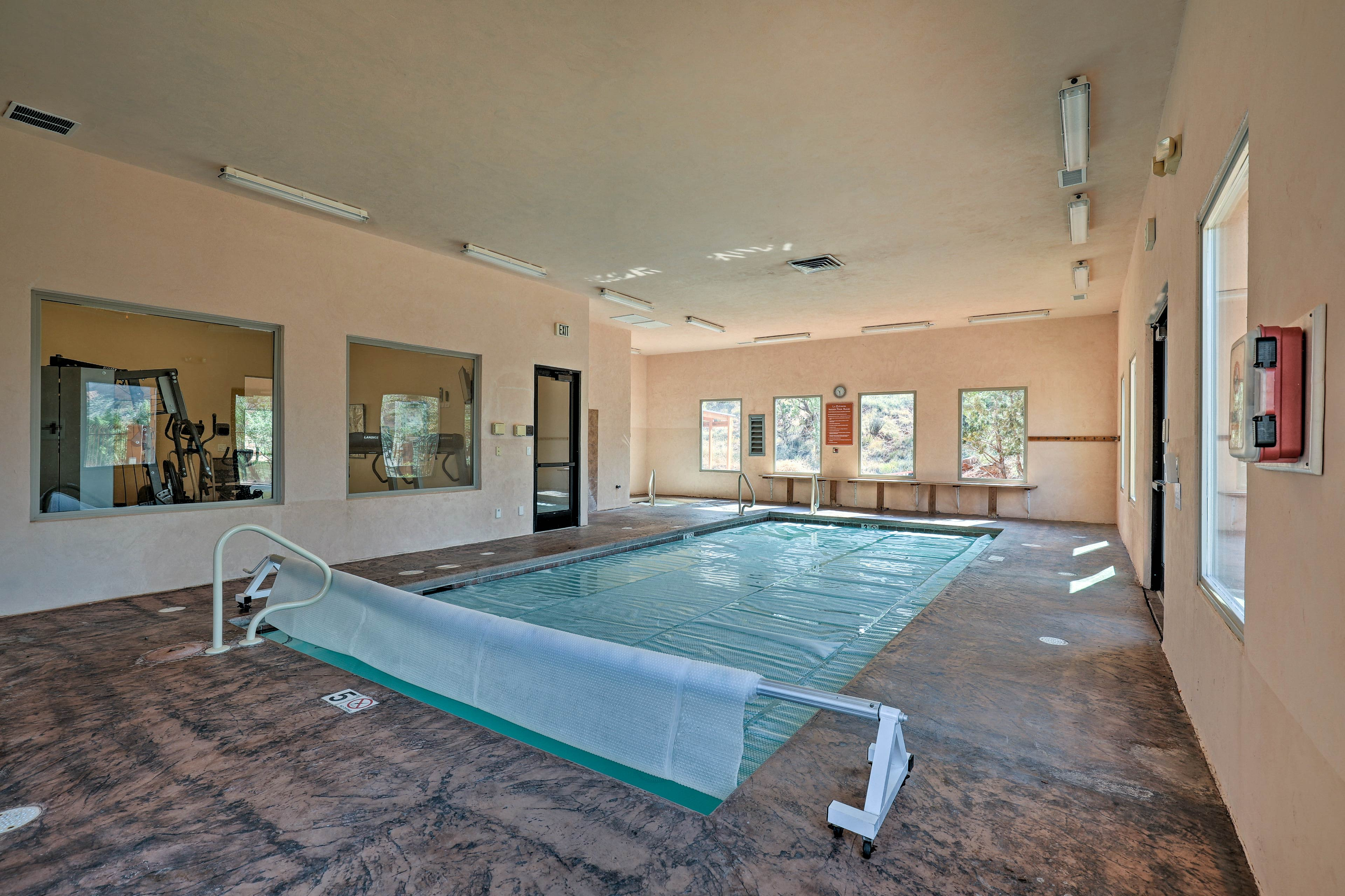 A second pool is indoors.