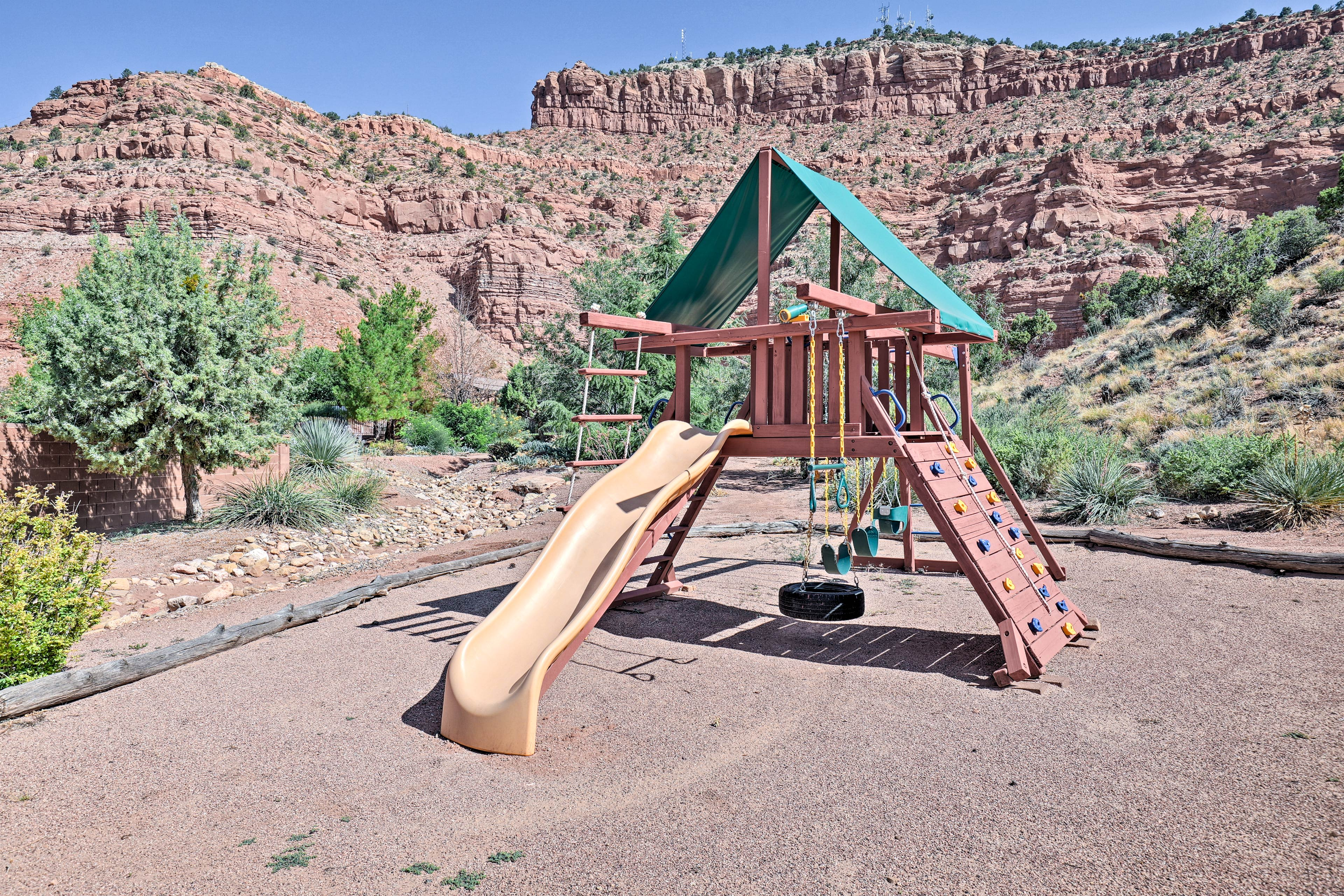 Play a game with the kids at the playground!