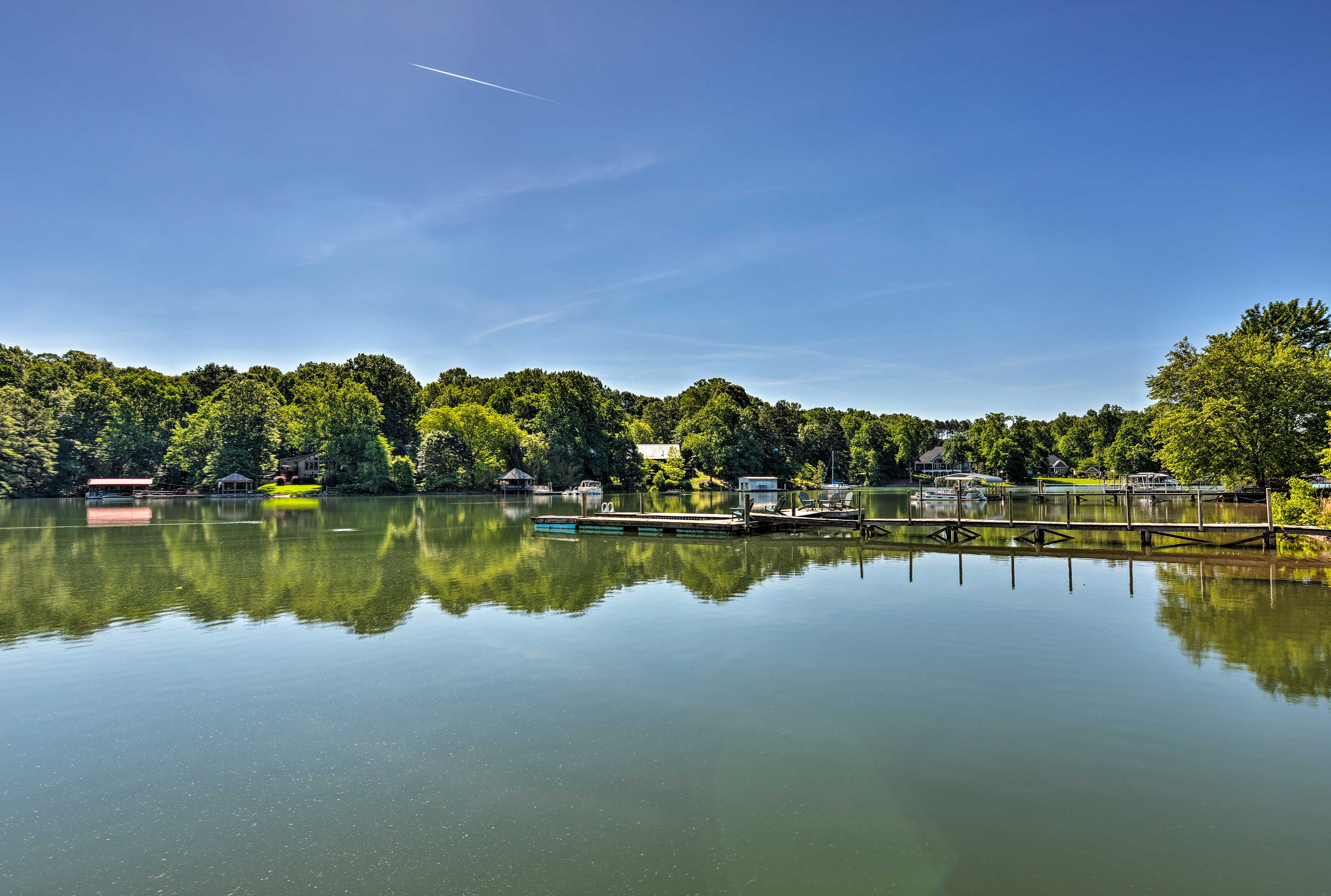 You'll love this peaceful cove surrounding the lake house.