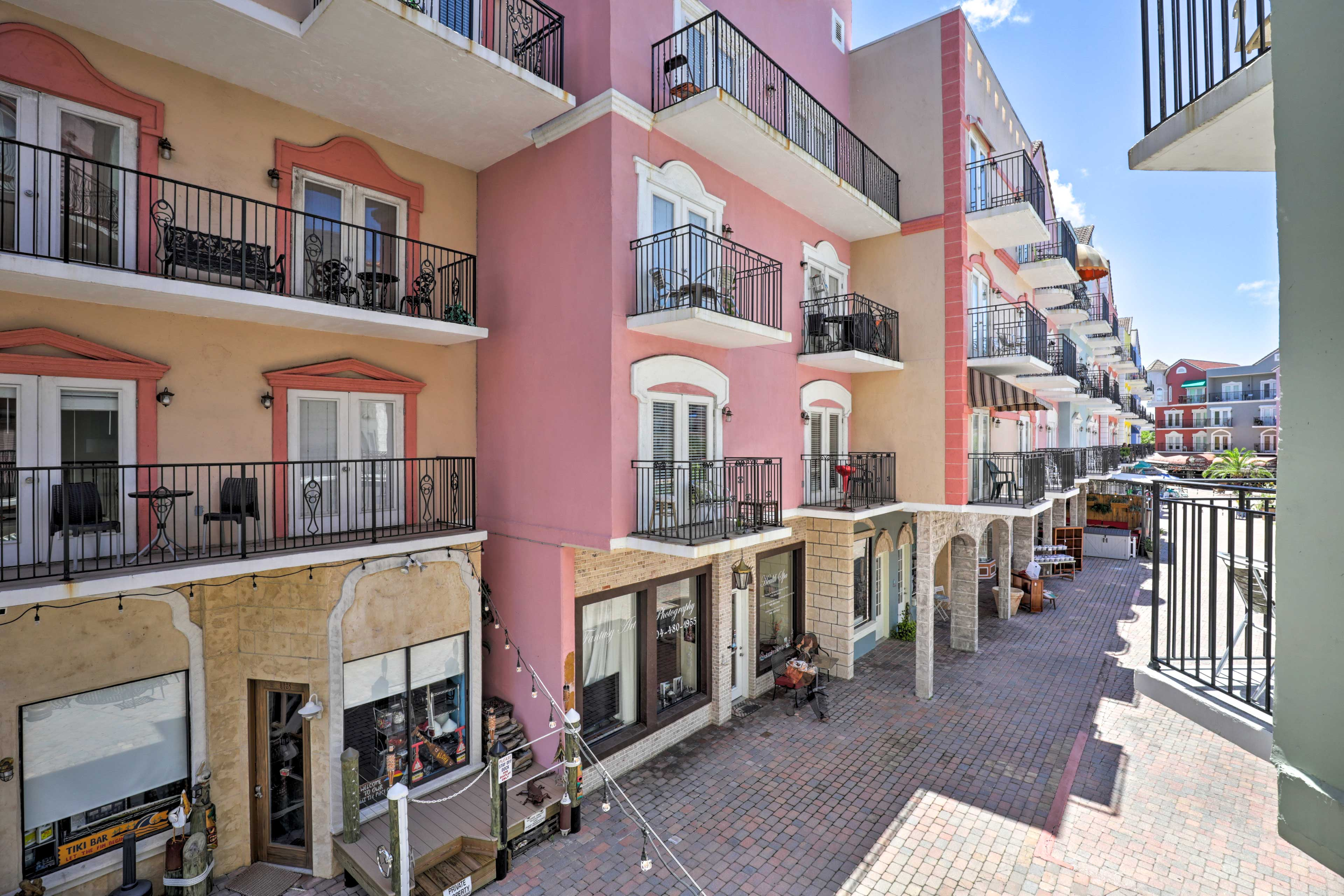 Be transported to Europe in this Palm Coast vacation rental condo.