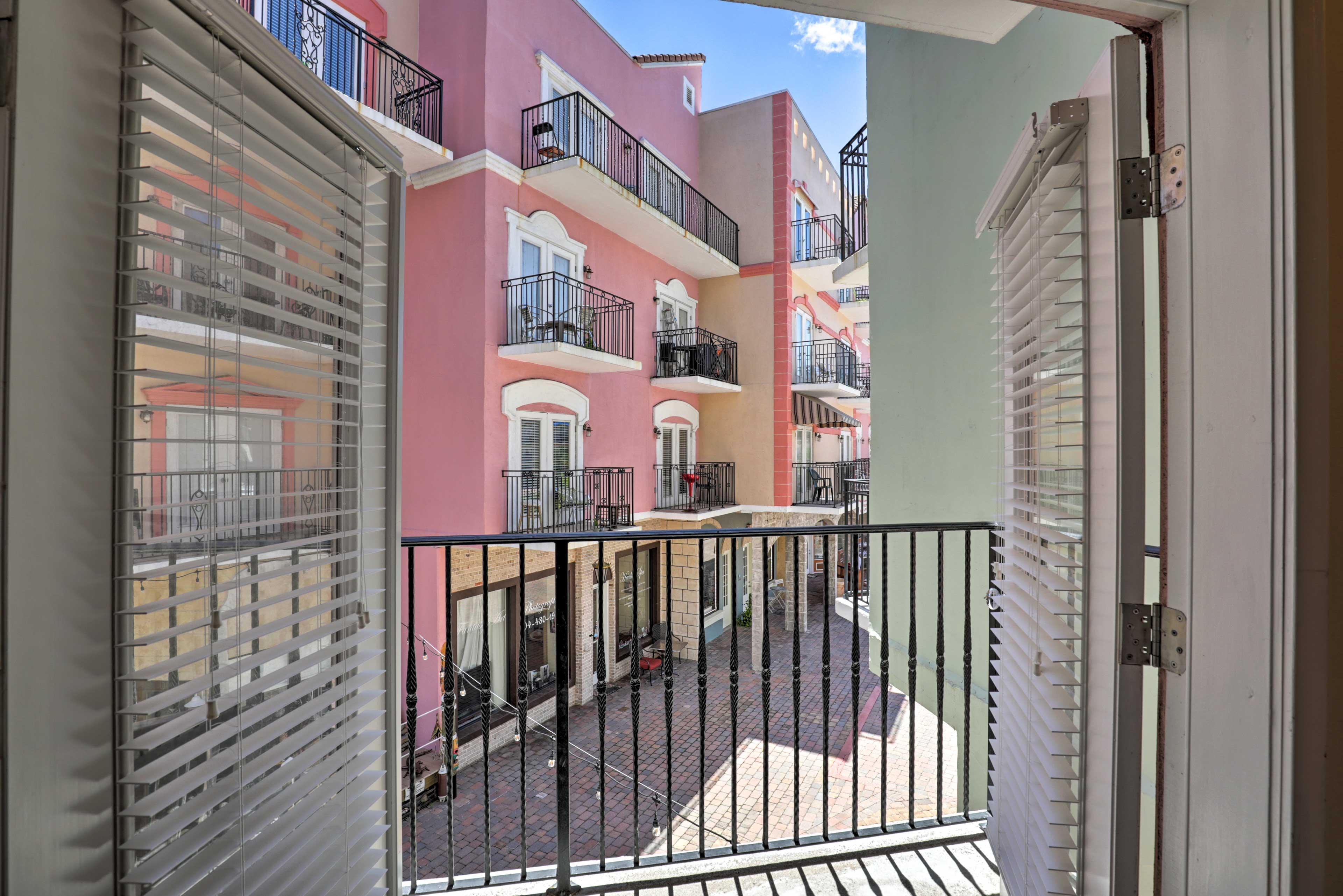 Head onto the balcony and soak up the sun.