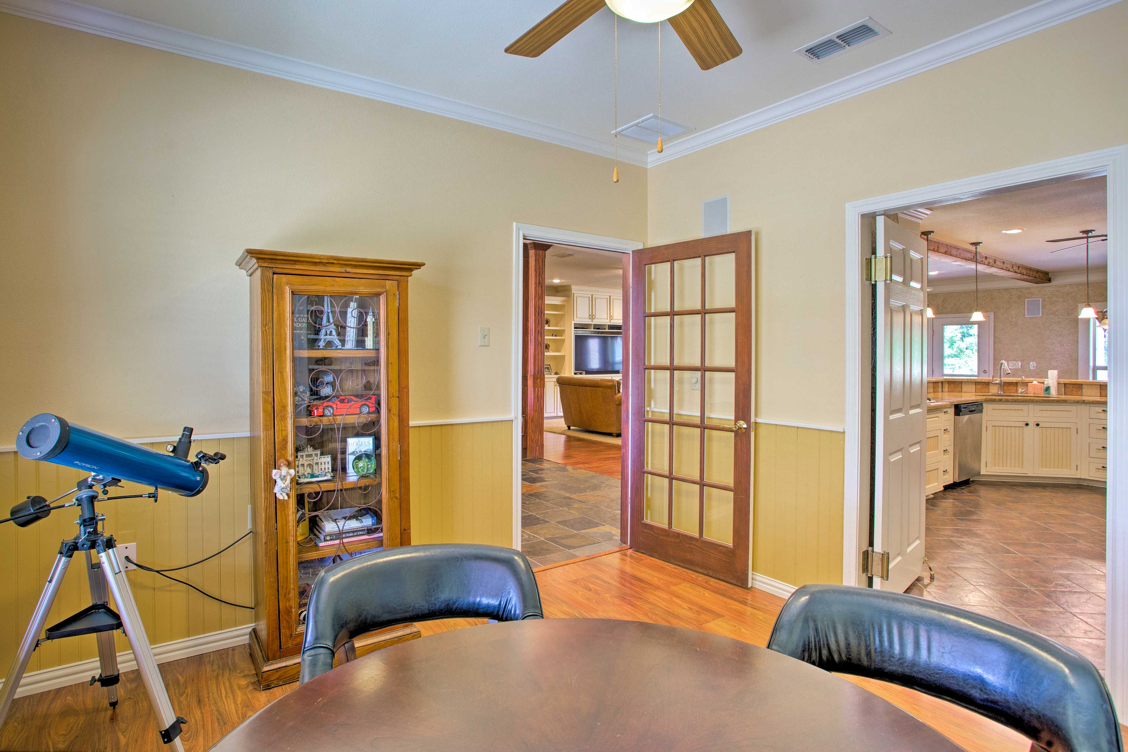 There's over 4,000 square feet of living space.