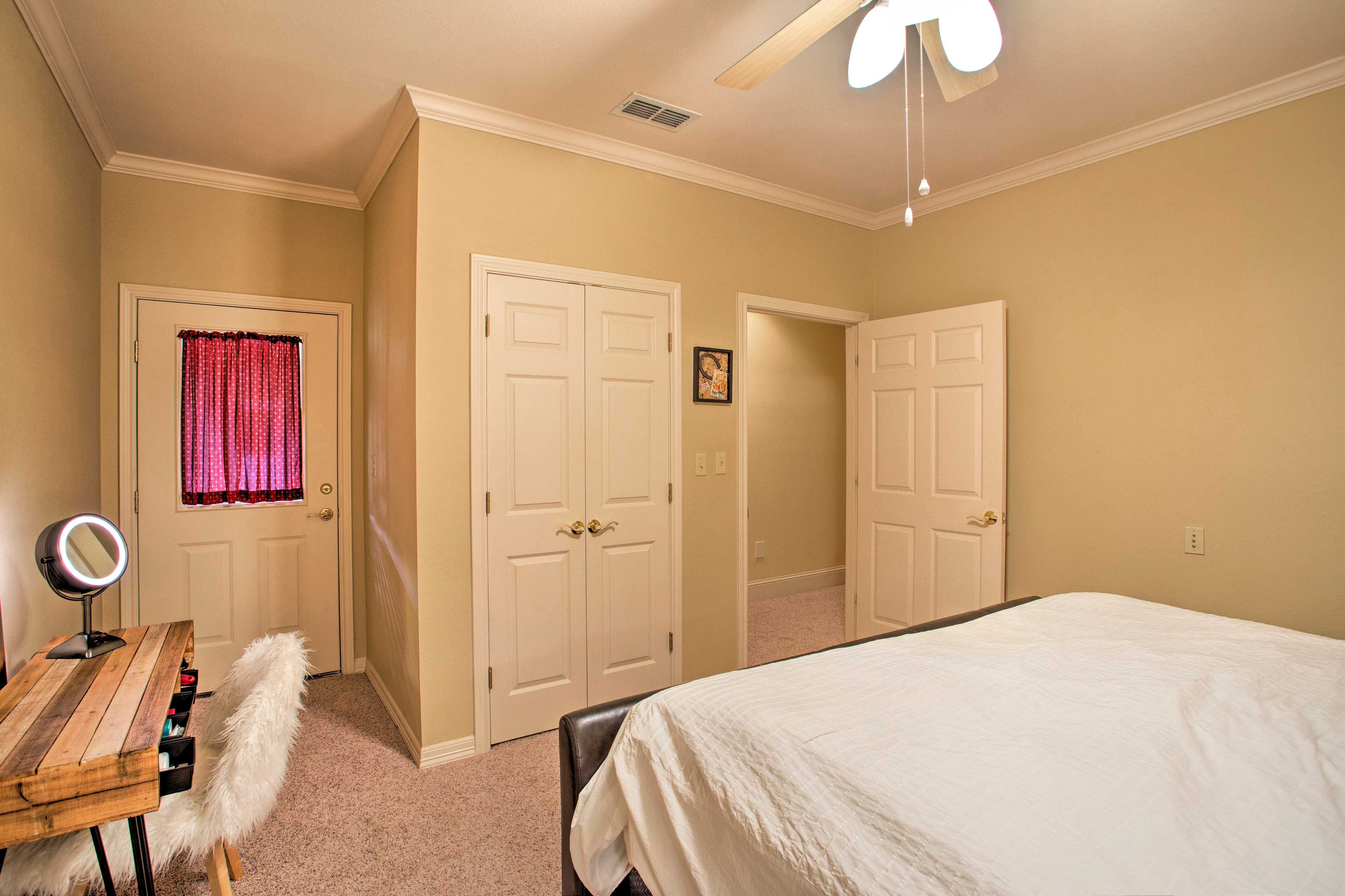 Additional sleeping is available in the media room using the pullout beds.