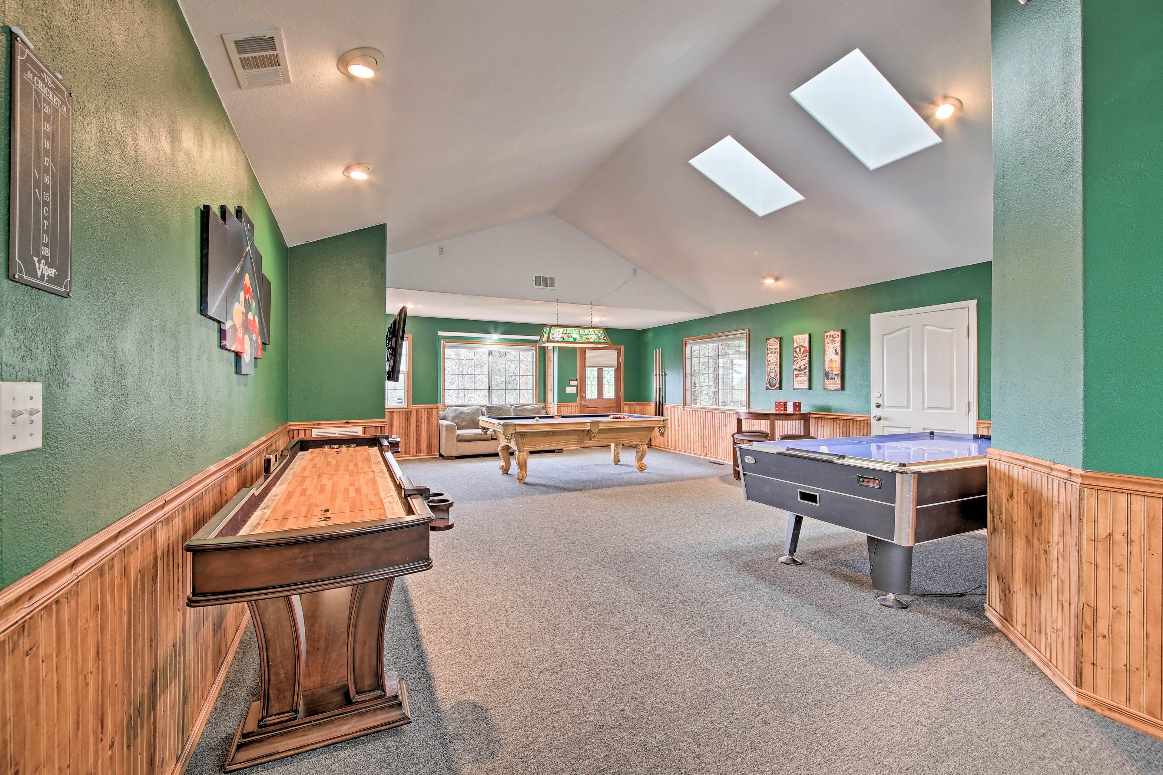 Game Room   Shuffleboard   Air Hockey   Pool Table