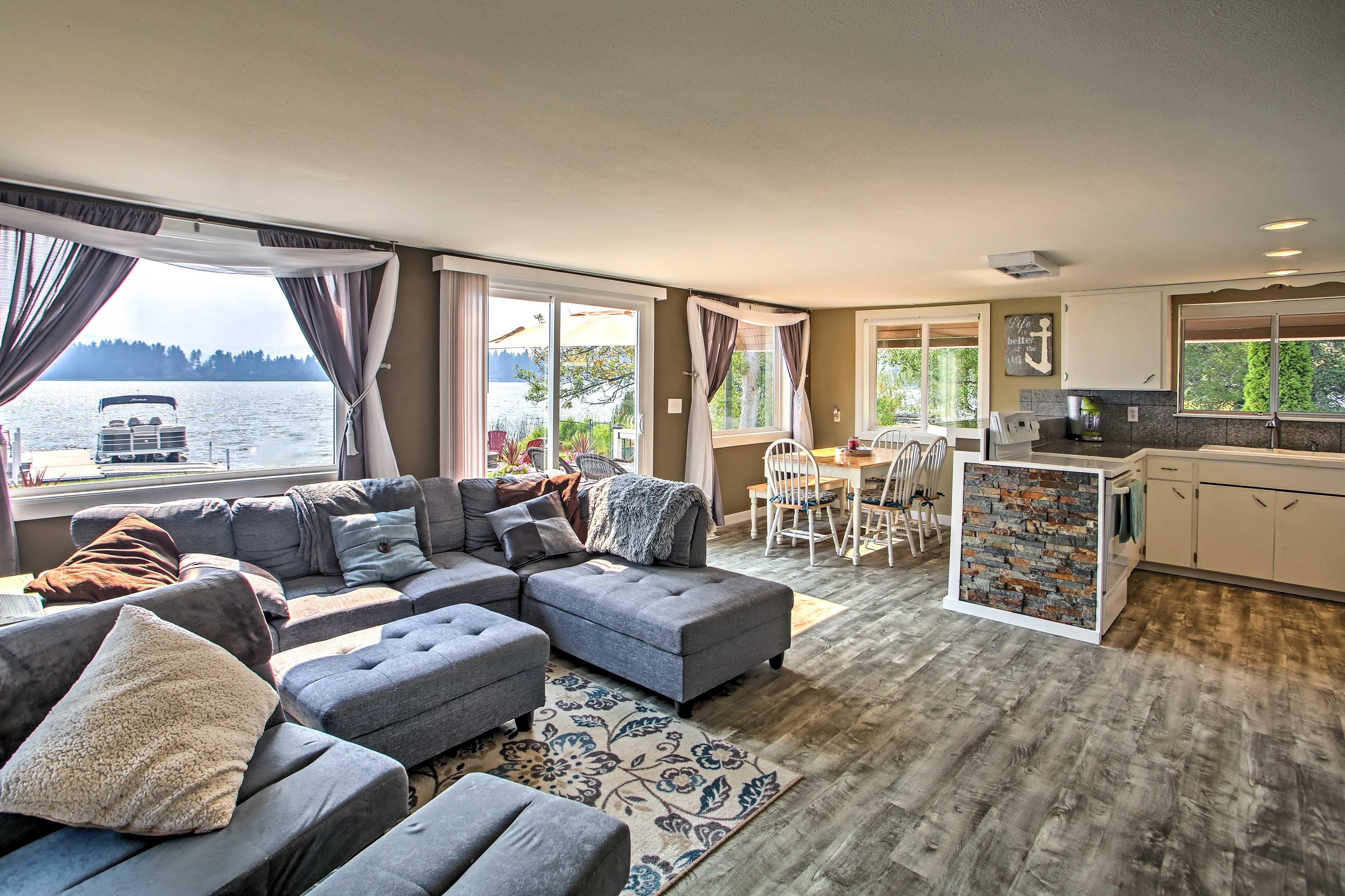 Living Room | Lake Views | Updated Interior