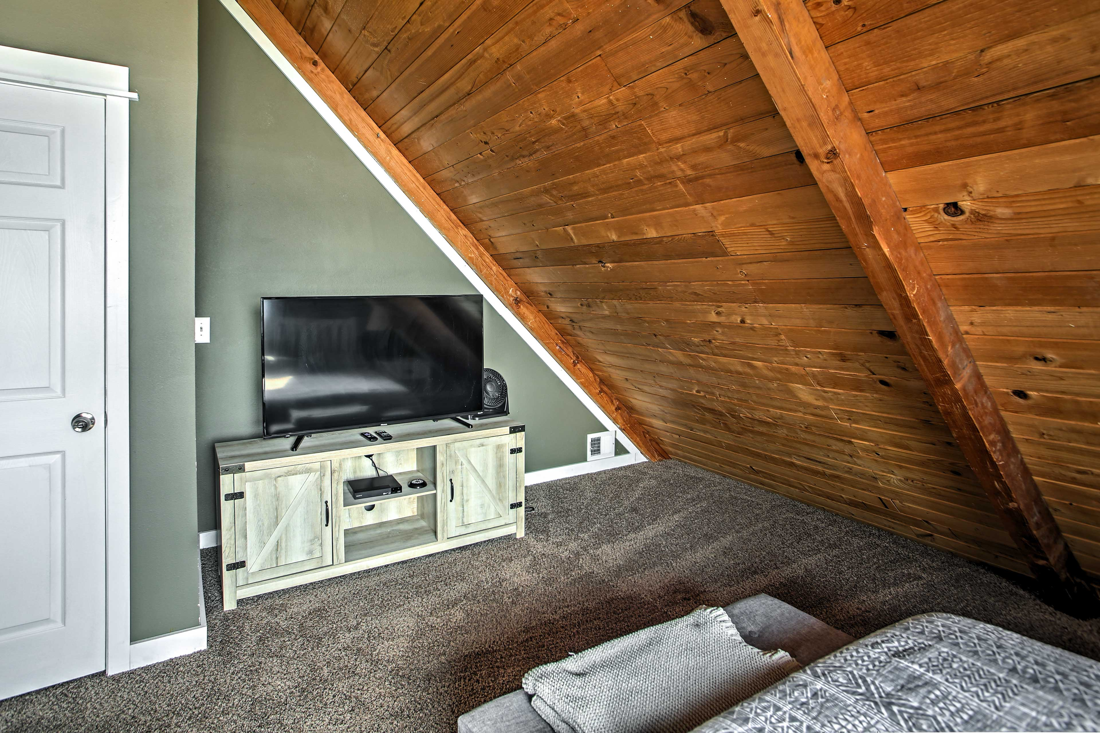 Bedroom 2 | Knotty-Pine Accents | Smart TV