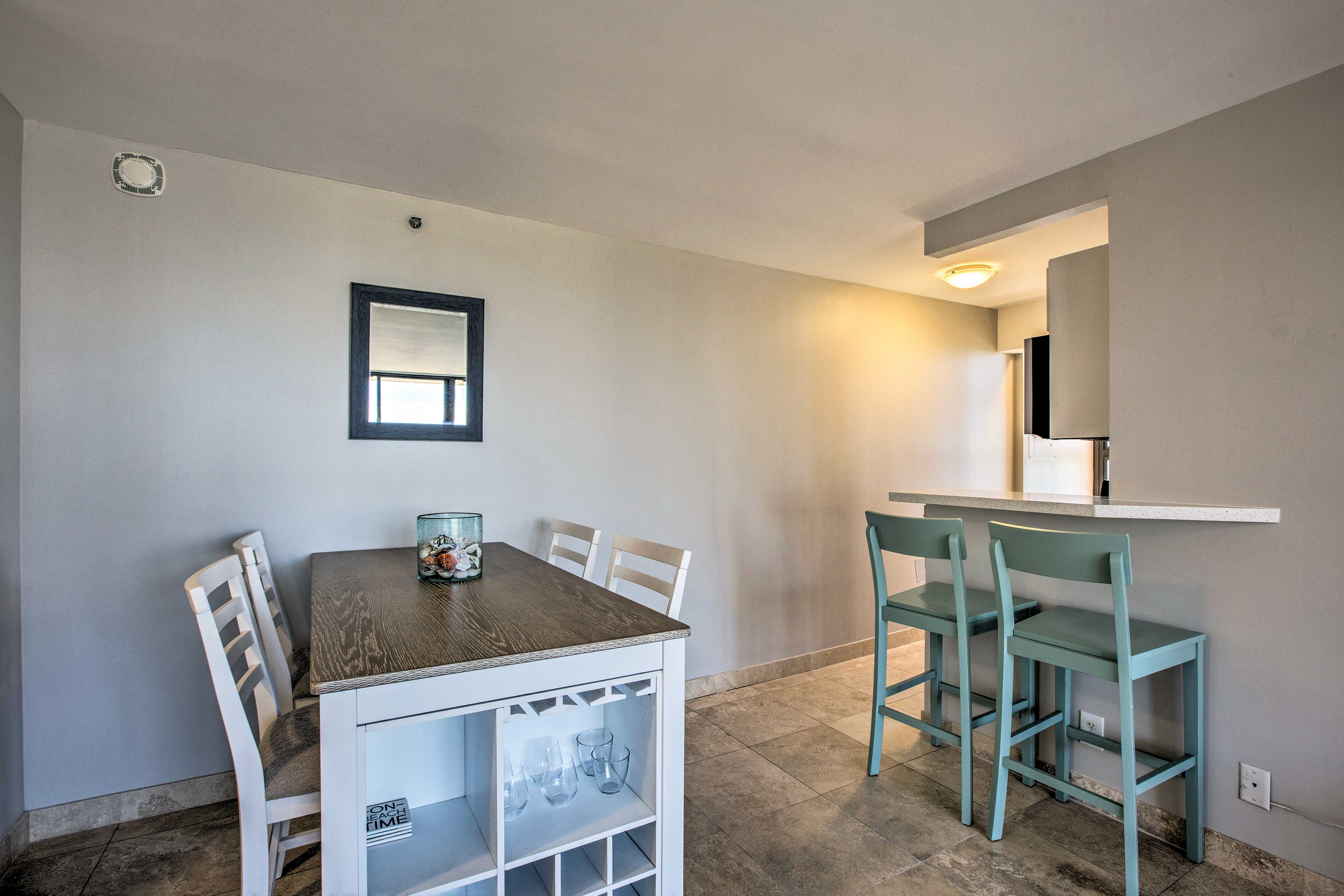 The condo has been recently remodeled with all new features and furnishings.