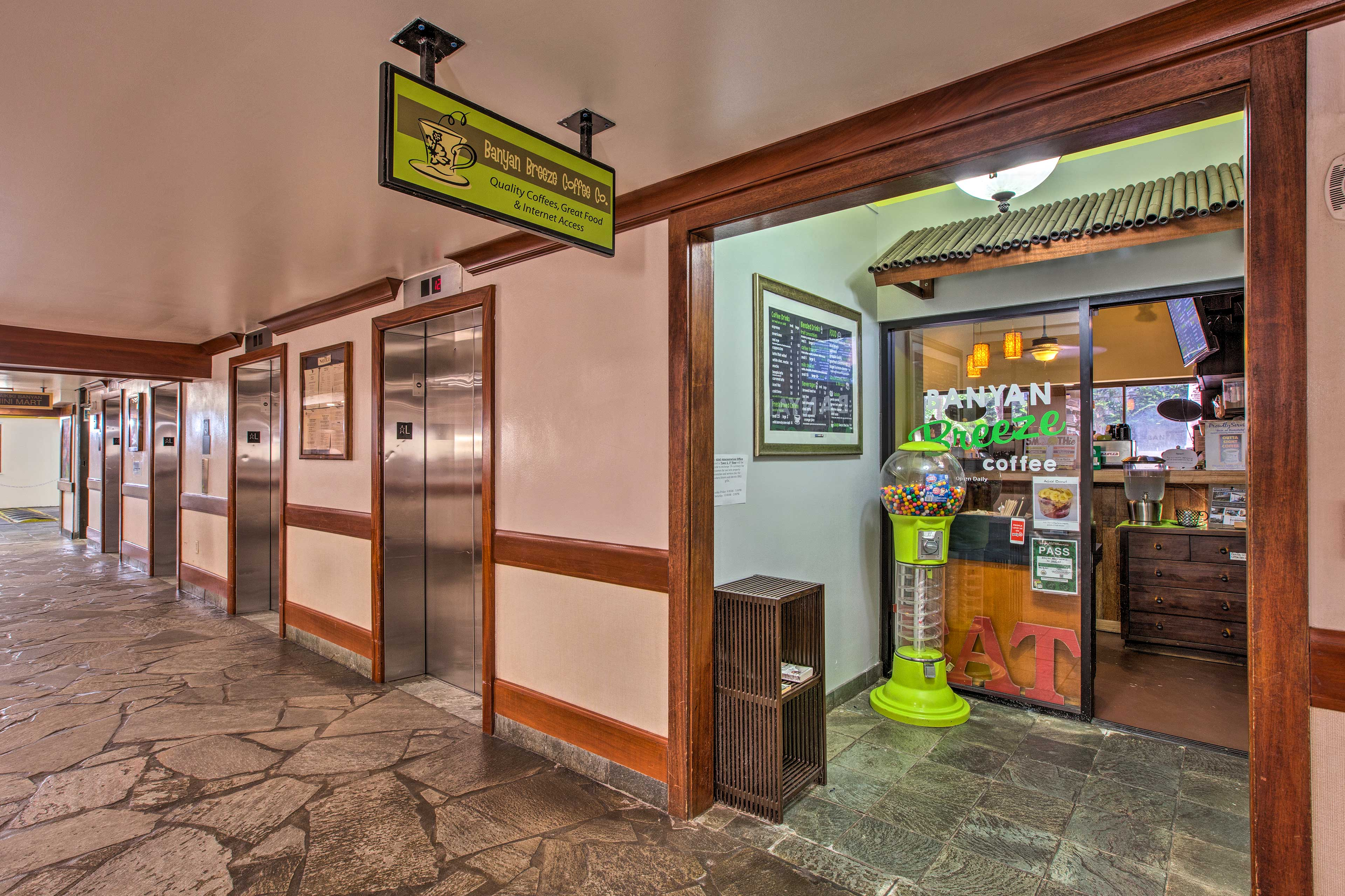 Satisfy your sweet tooth with a trip to the convenience store in the lobby.