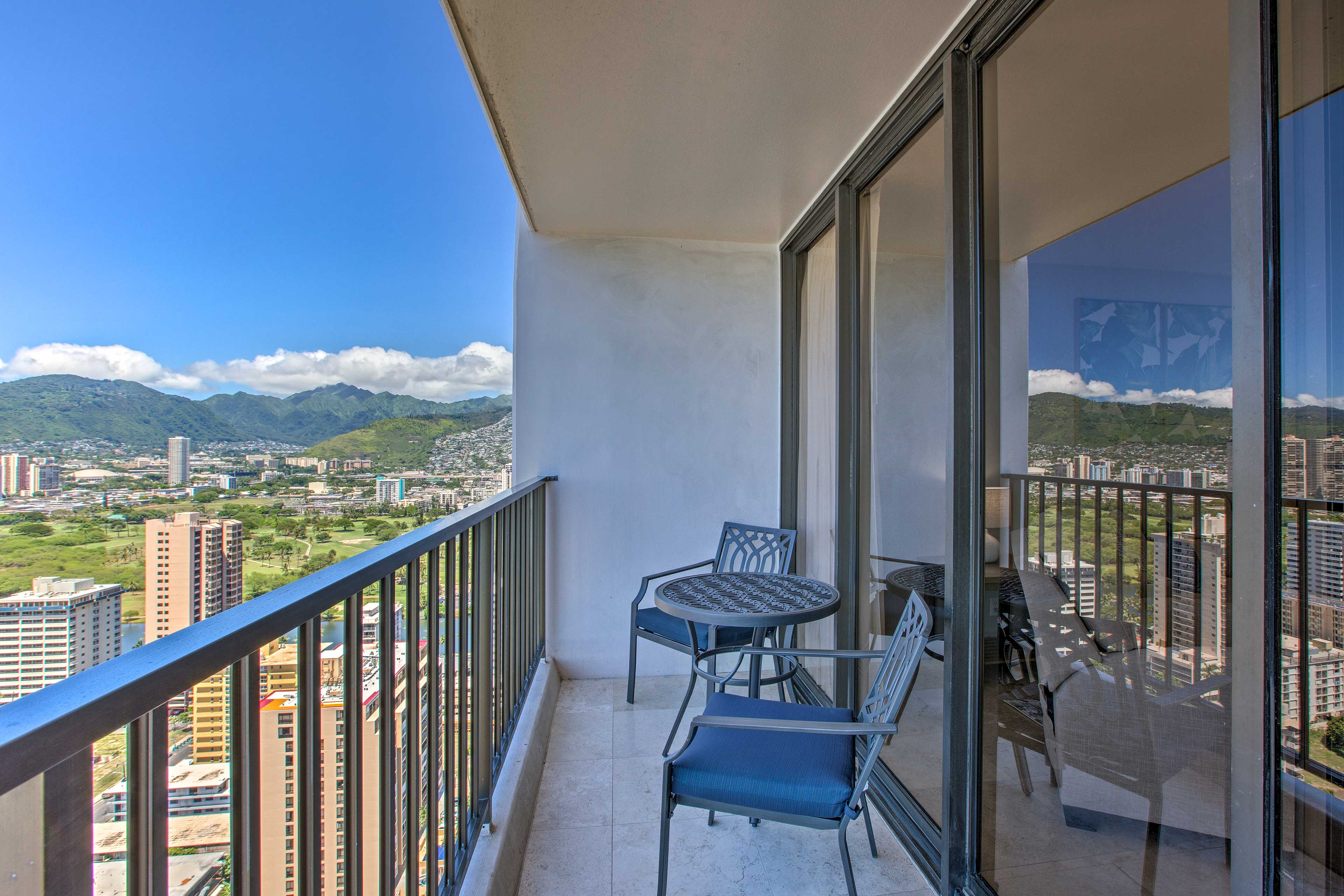 Kick back, relax and enjoy the sweeping scenery from your balcony.