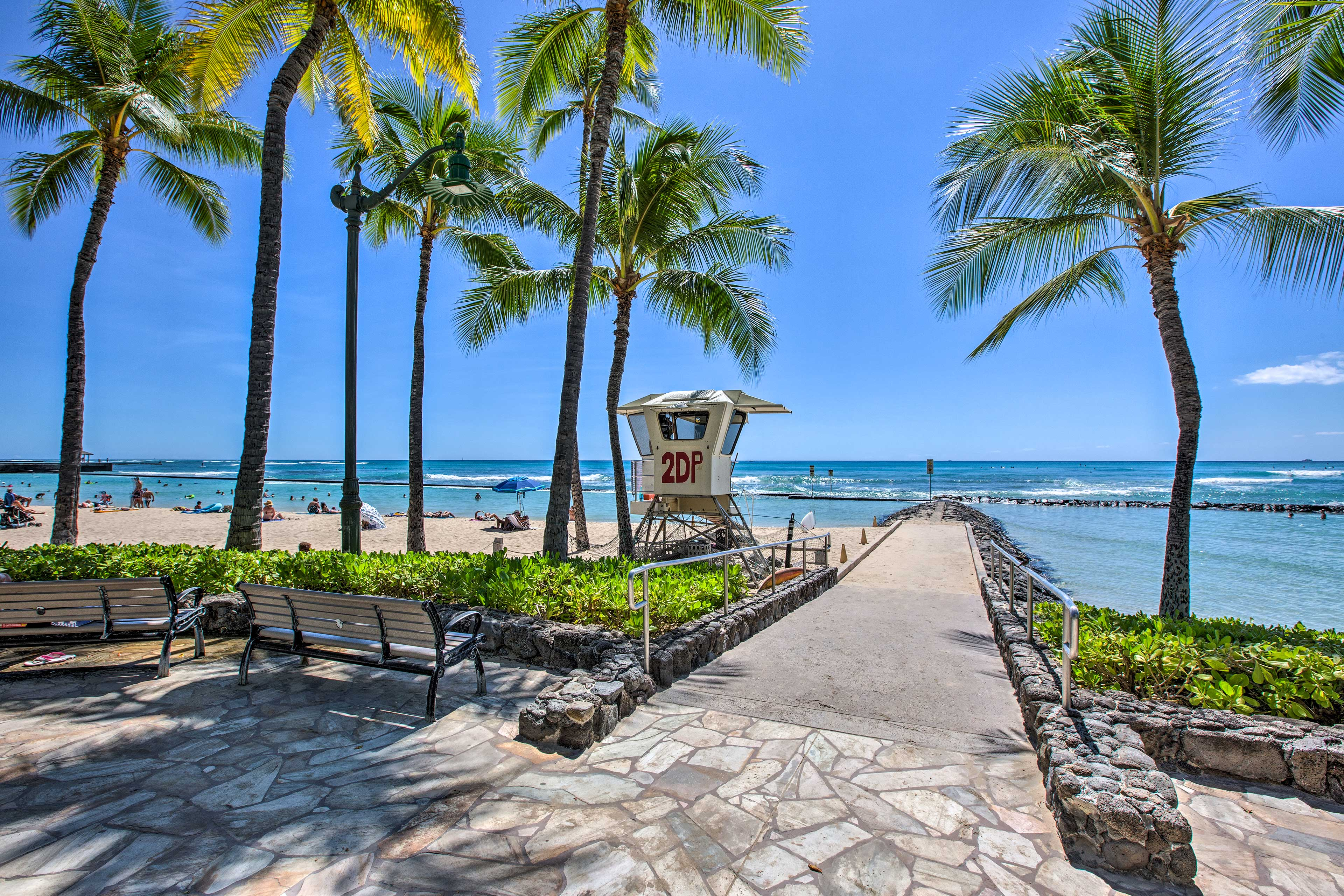 Stroll down to the beach, only 1 block from your vacation rental.