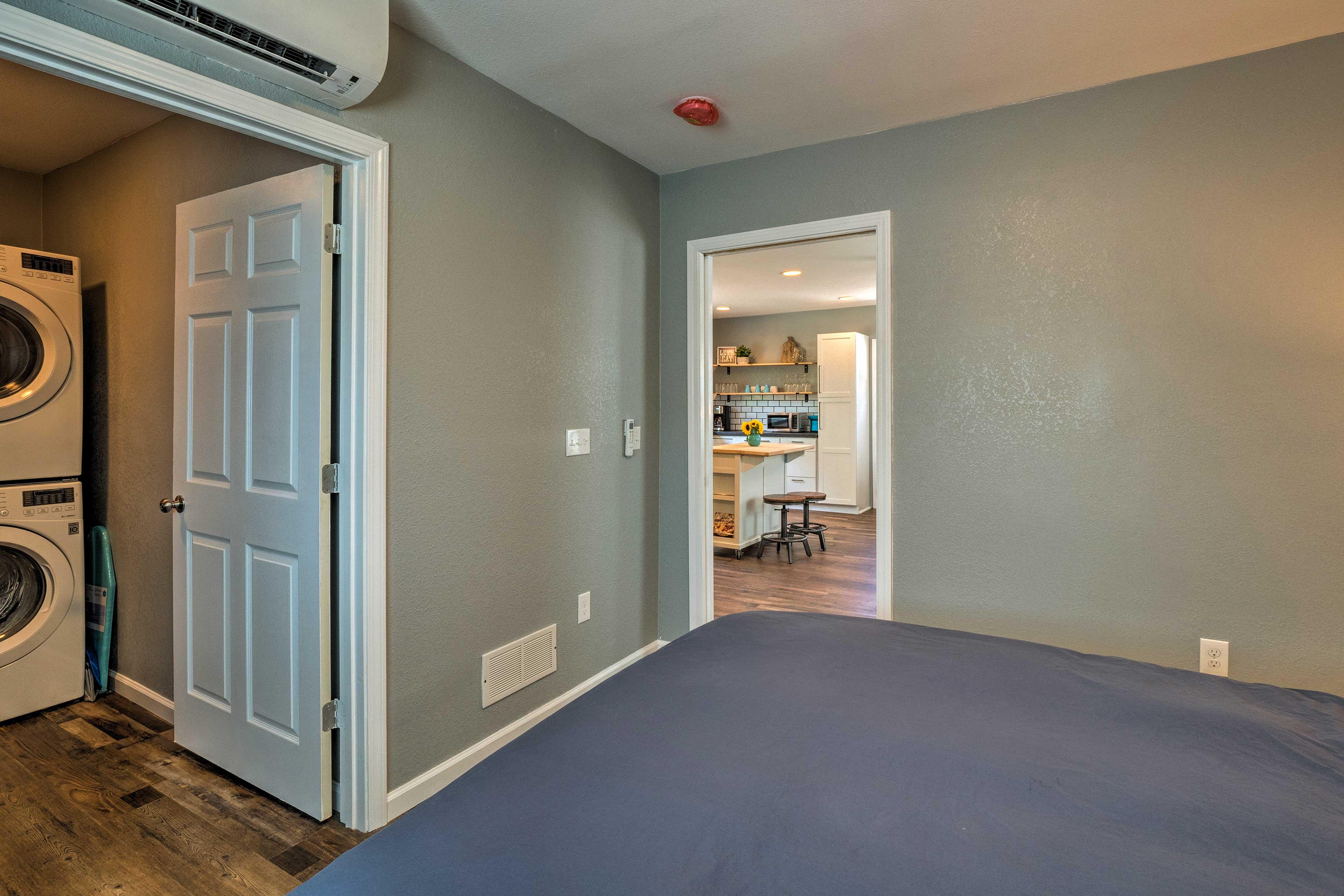 Bedroom | Wall-Unit Air Conditioning | Closet
