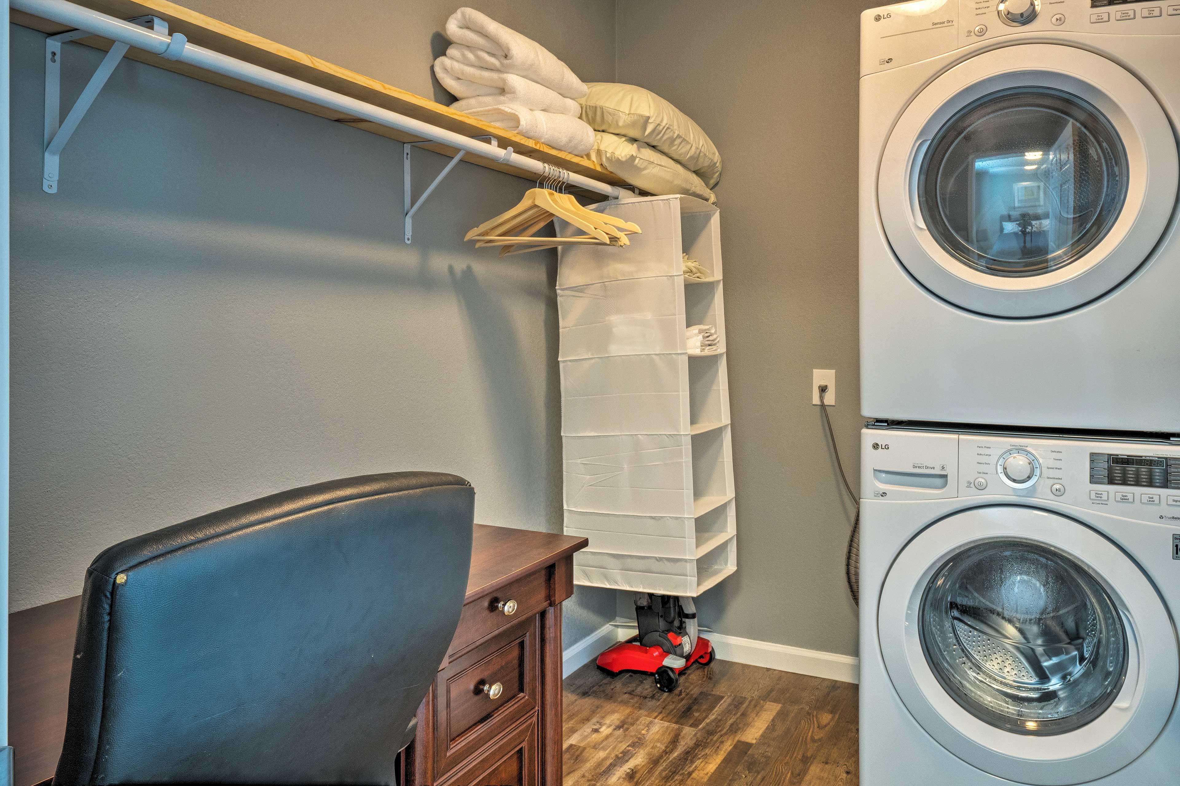Bedroom Closet | Desk | Washer/Dryer