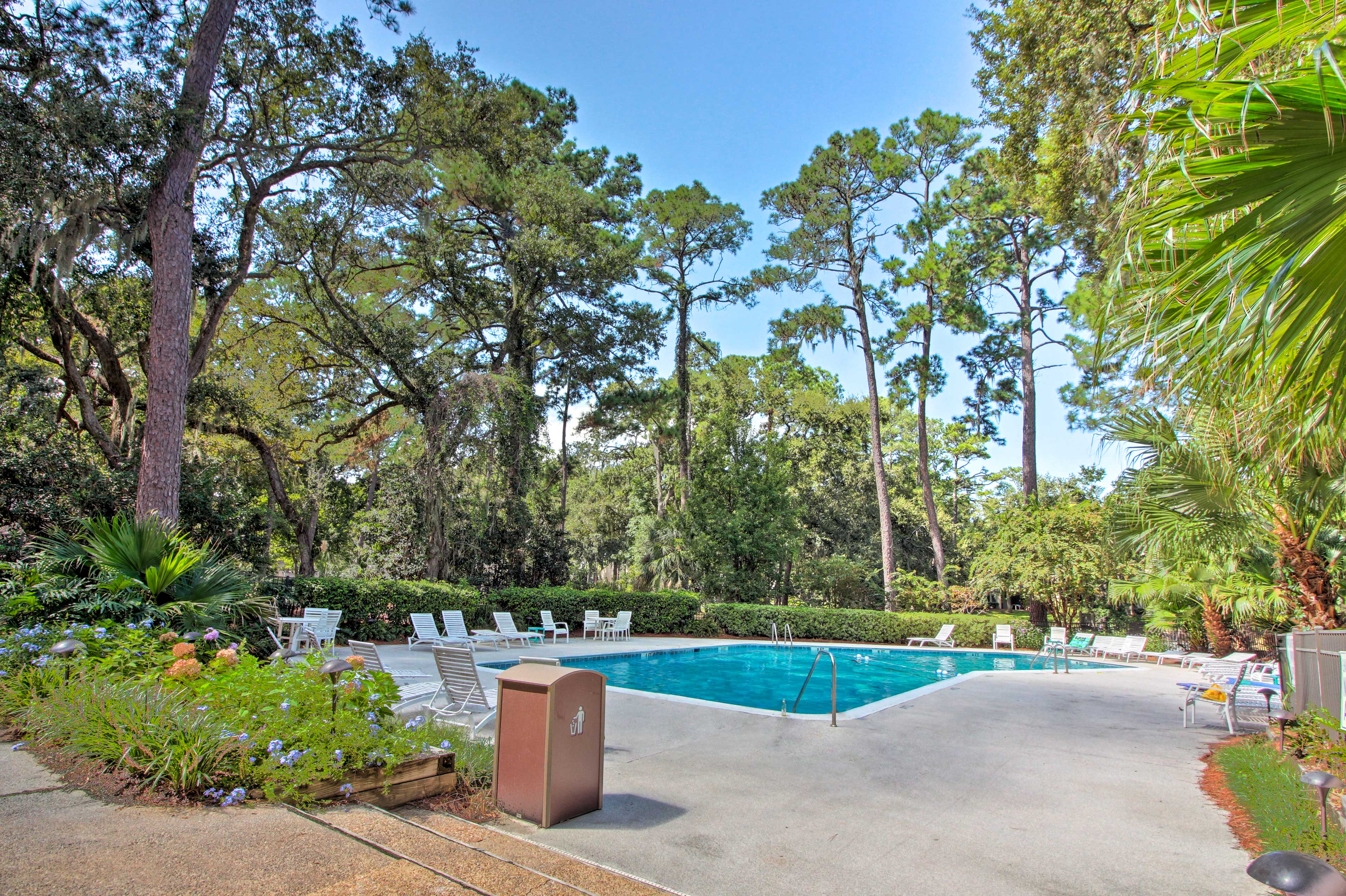 Take a dip or soak up the sun by the community pool.