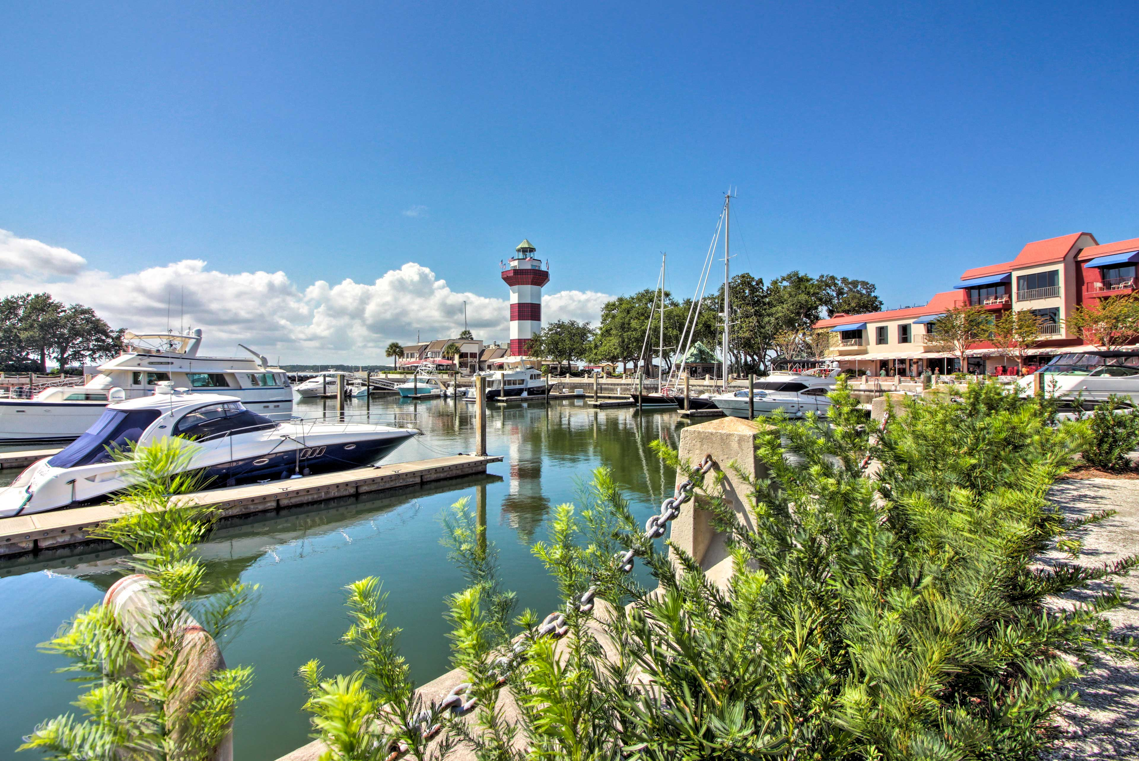 Climb the steps to the top of the historic Harbour Lightouse during your stay.