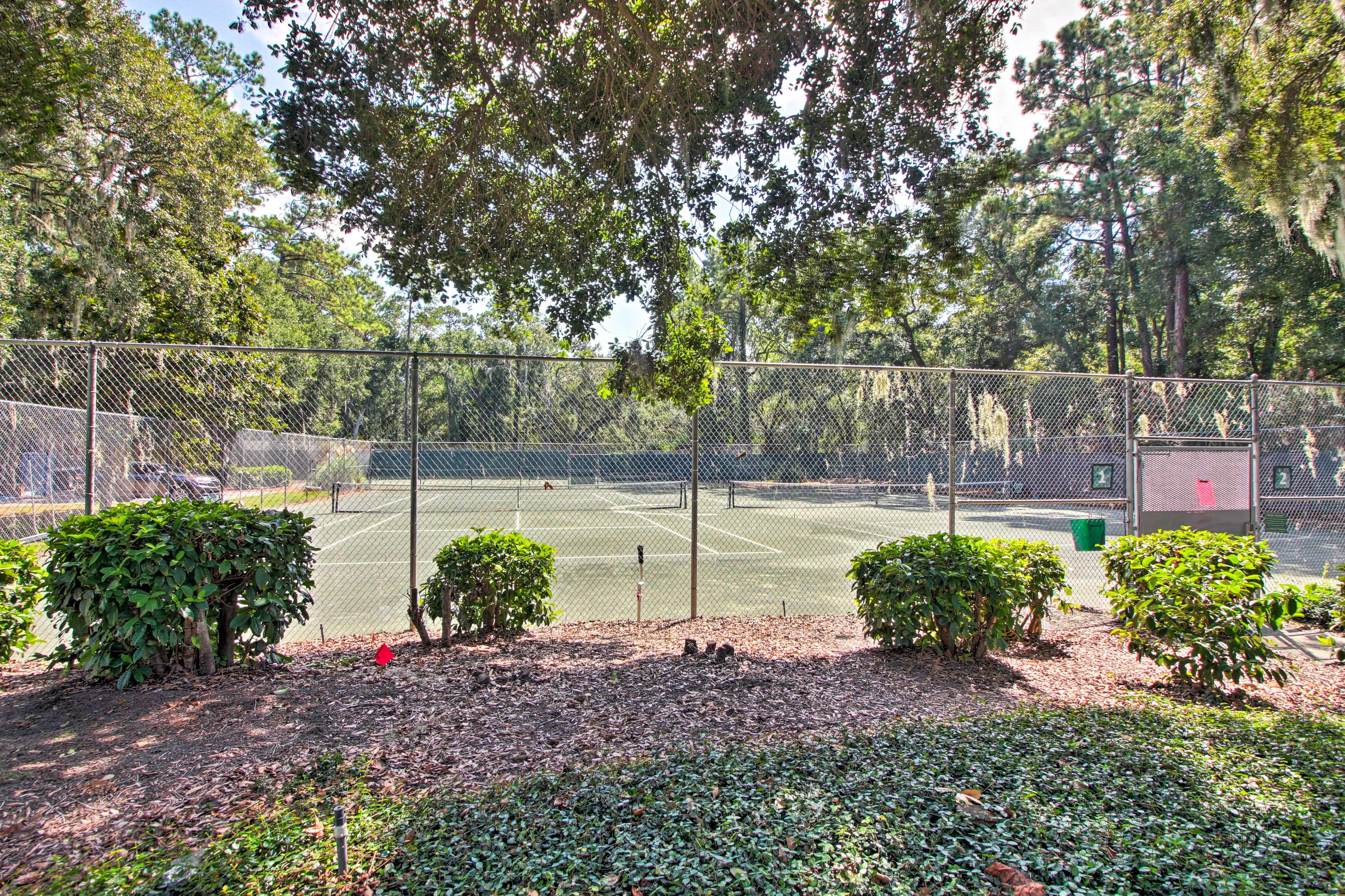 Bring along your tennis gear!