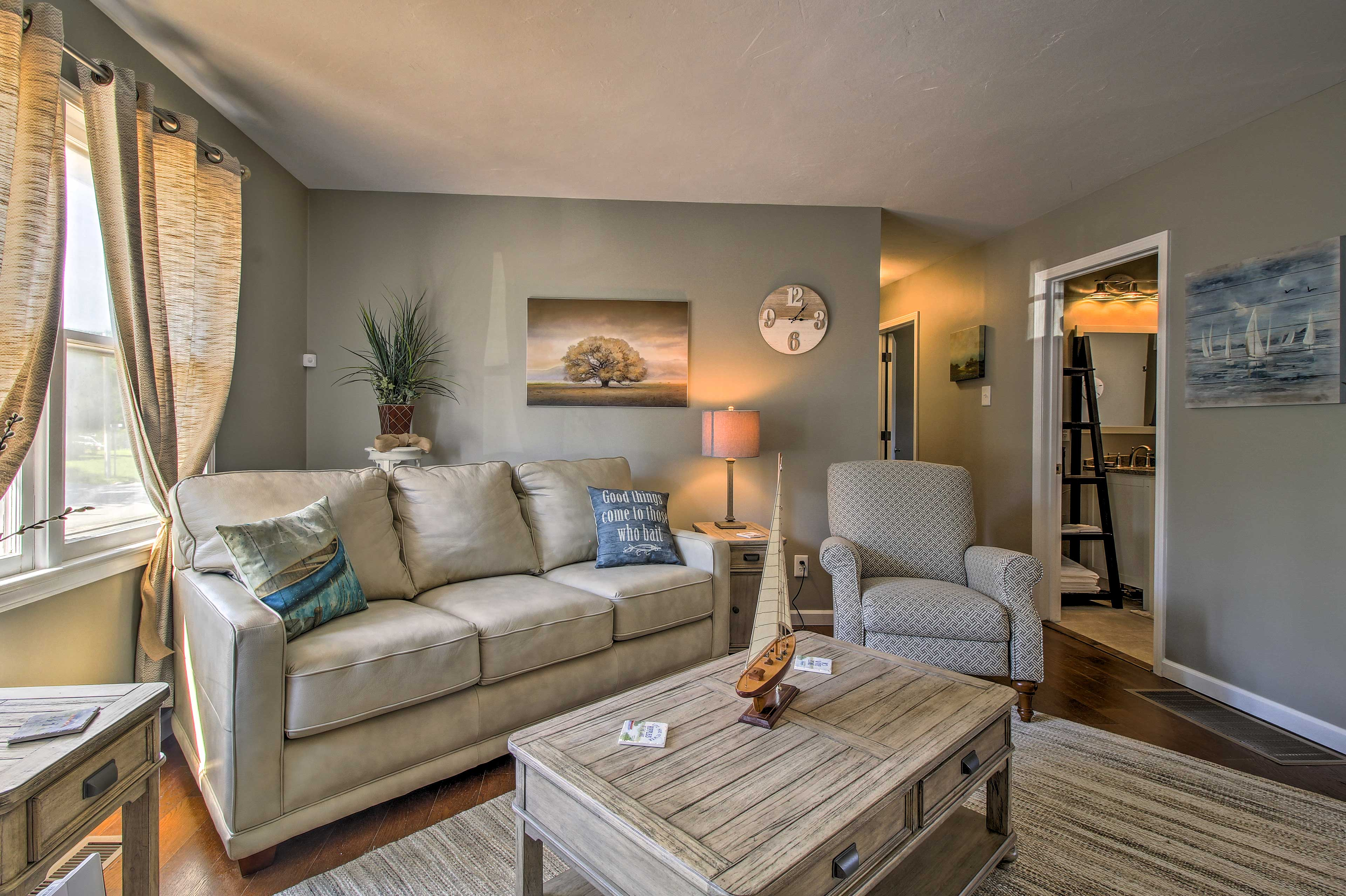 Your group of up to 8 guests will love this cozy home base in Stockton!