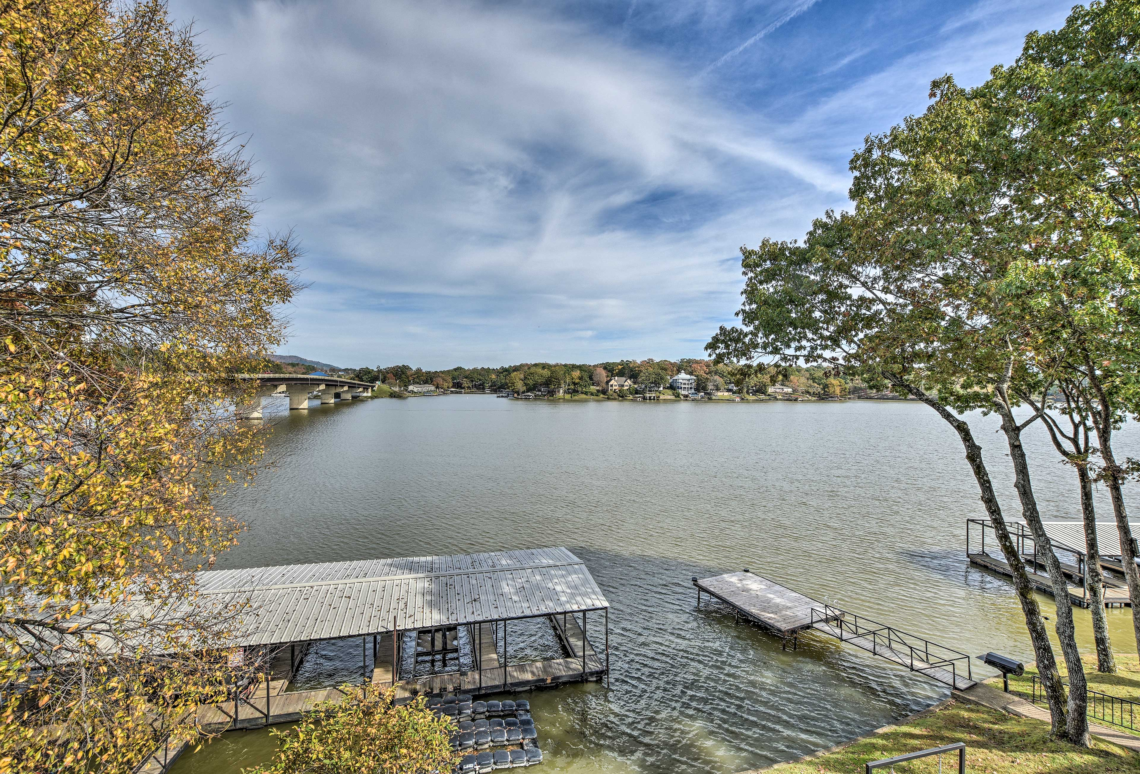 A boat slip/dock is available for your use.